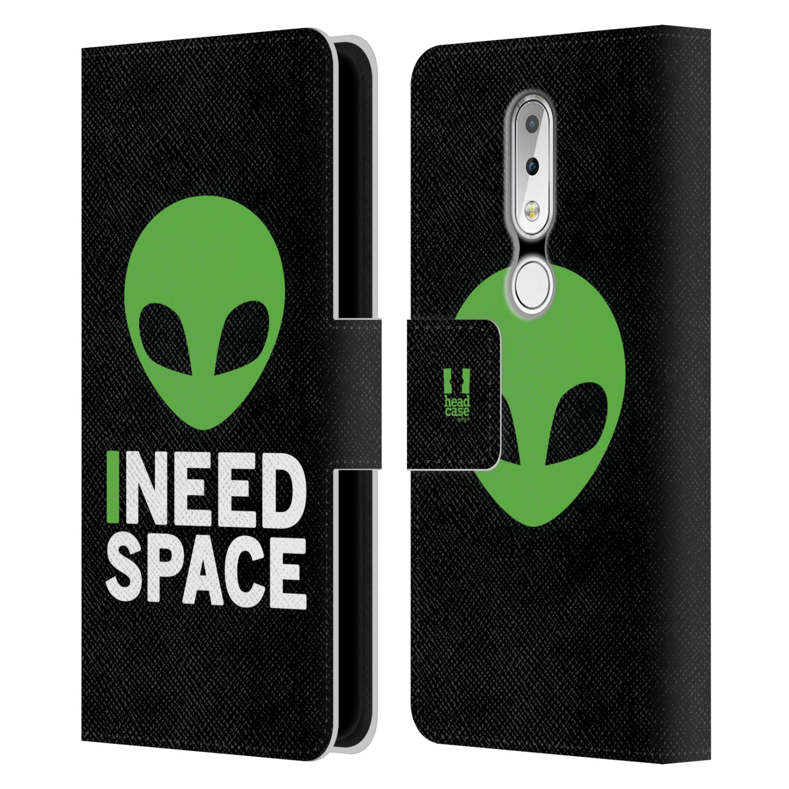 Pouzdro na mobil Nokia 6.1 Plus - Head Case - zelený mimozemšťan Ufoun