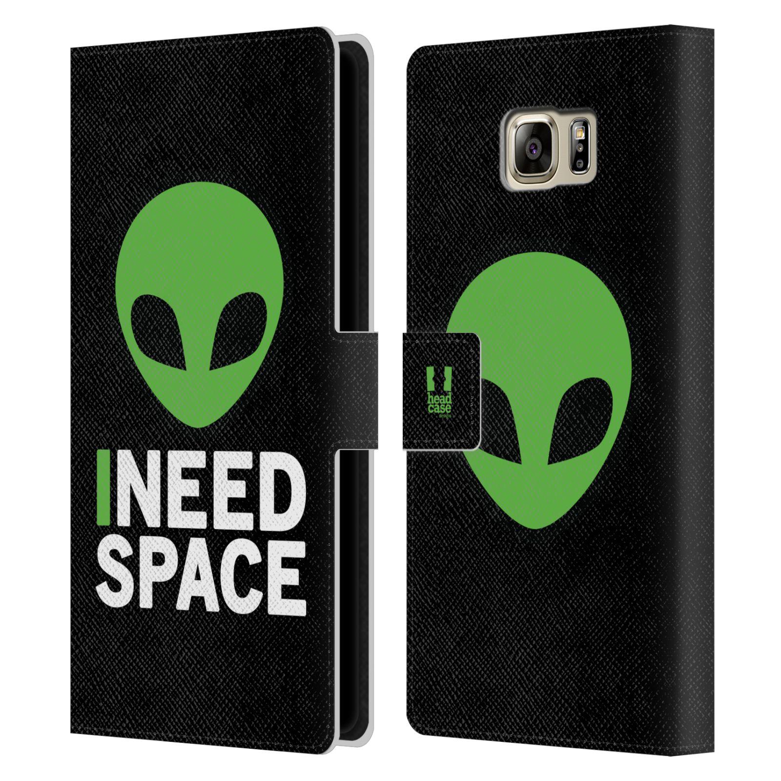 Pouzdro na mobil Samsung Galaxy NOTE 5 - Head Case - zelený mimozemšťan Ufoun