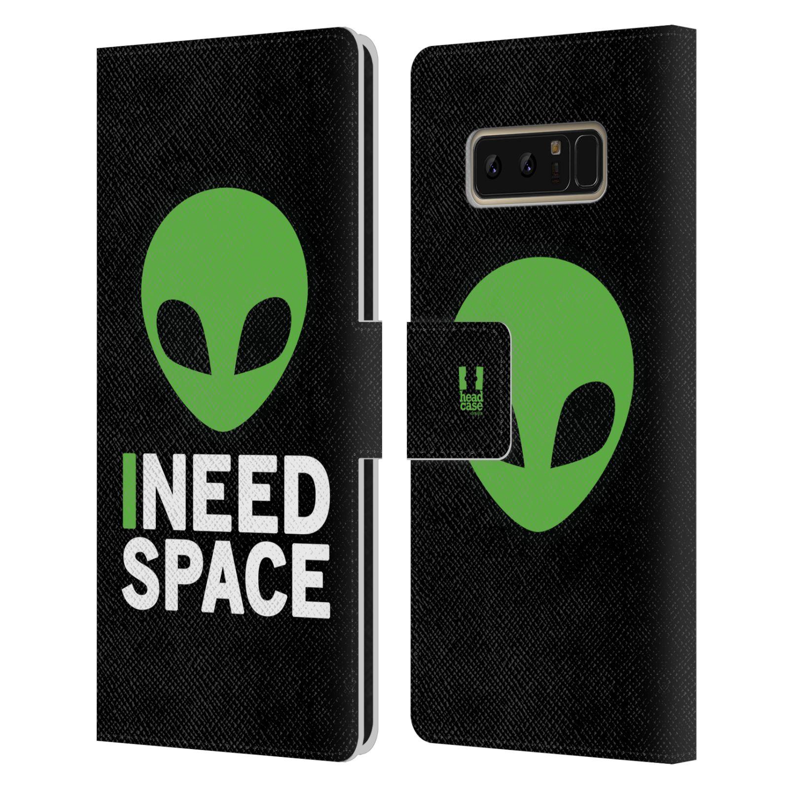 Pouzdro na mobil Samsung Galaxy NOTE 8 - Head Case - zelený mimozemšťan Ufoun