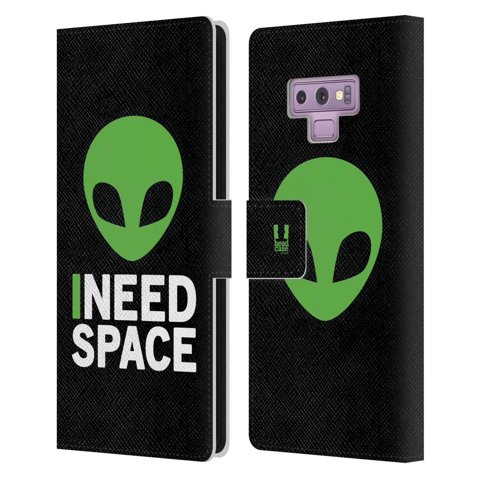 Pouzdro na mobil Samsung Galaxy NOTE 9 - Head Case - zelený mimozemšťan Ufoun