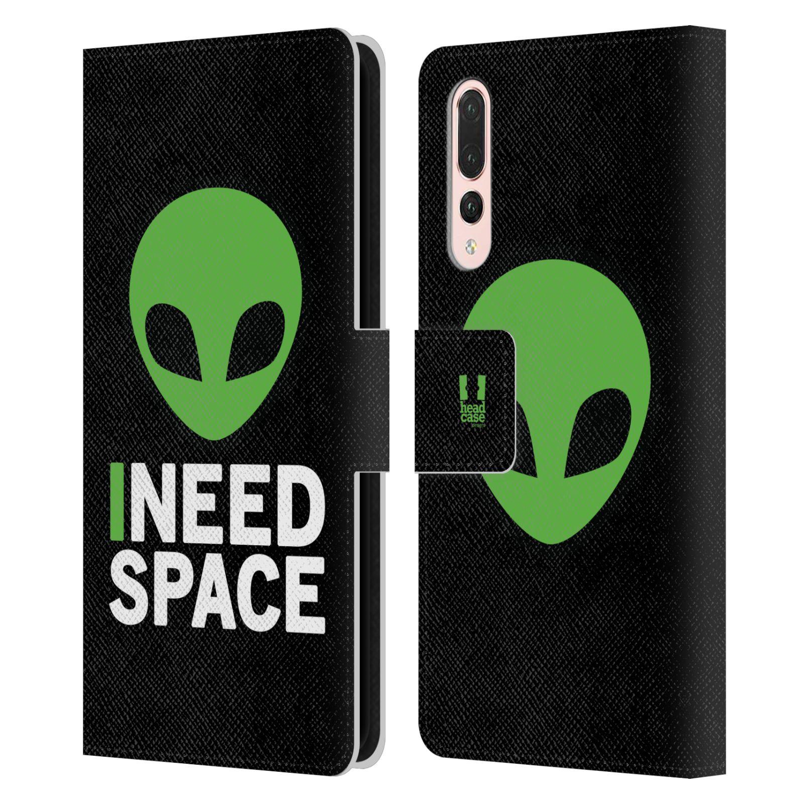 Pouzdro na mobil Huawei P20 Pro - Head Case - zelený mimozemšťan Ufoun