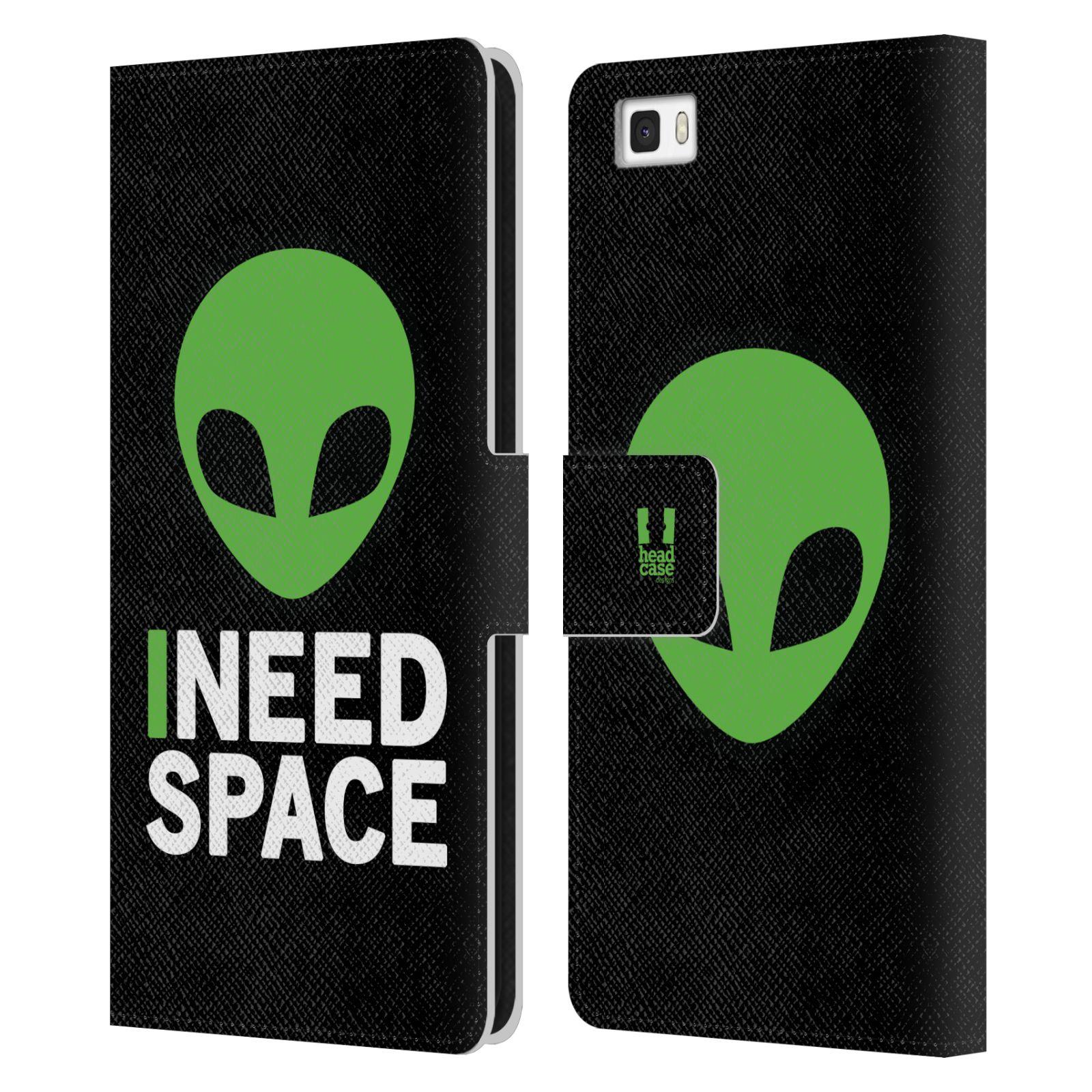 Pouzdro na mobil Huawei P8 Lite - Head Case - zelený mimozemšťan Ufoun