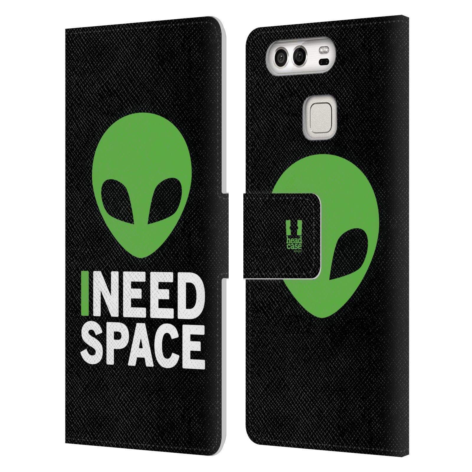 Pouzdro na mobil Huawei P9 - Head Case - zelený mimozemšťan Ufoun