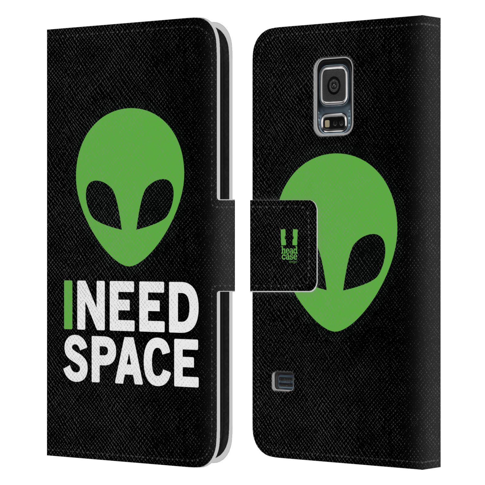 Pouzdro na mobil Samsung Galaxy S5 - Head Case - zelený mimozemšťan Ufoun