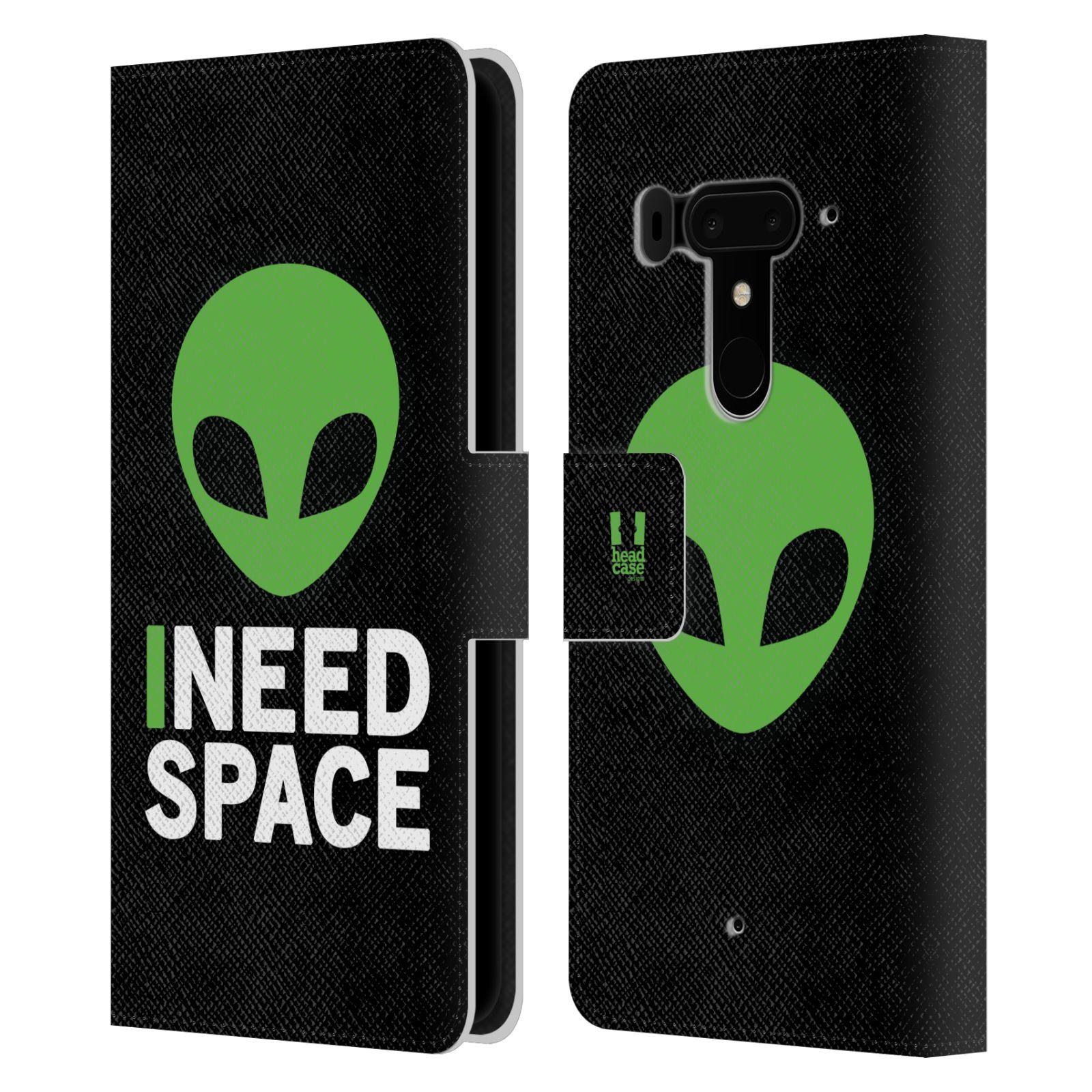 Pouzdro na mobil HTC U12 Plus - Head Case - zelený mimozemšťan Ufoun