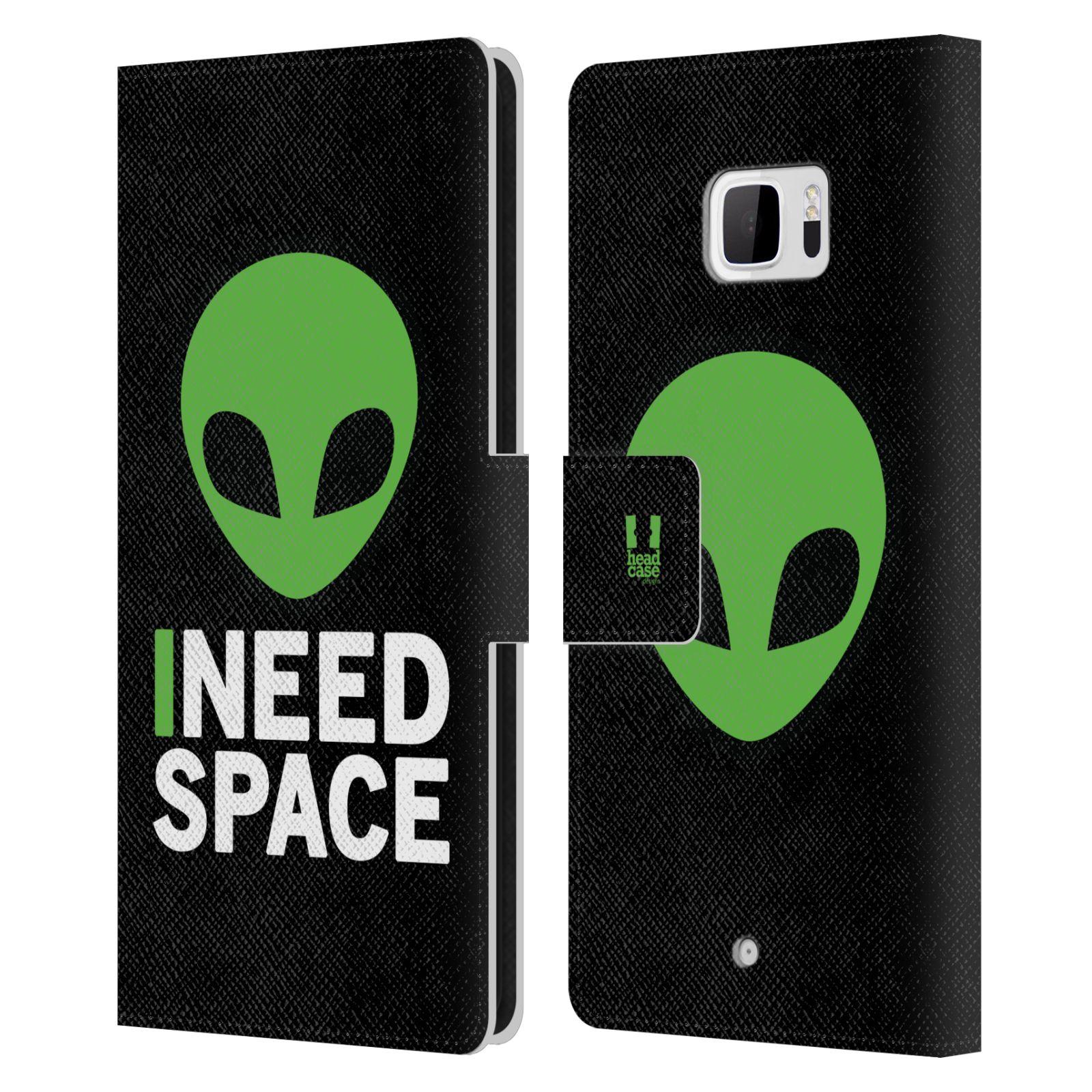 Pouzdro na mobil HTC U Ultra - Head Case - zelený mimozemšťan Ufoun