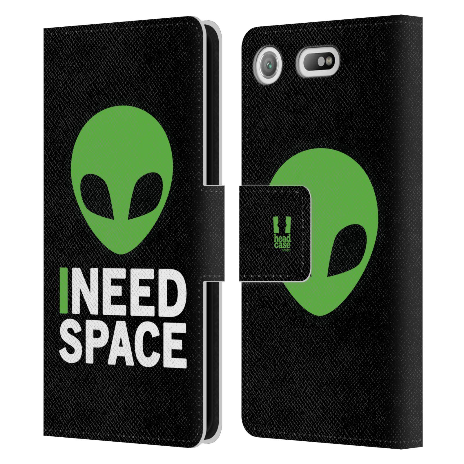 Pouzdro na mobil Sony Xperia XZ1 Compact - Head Case - zelený mimozemšťan Ufoun
