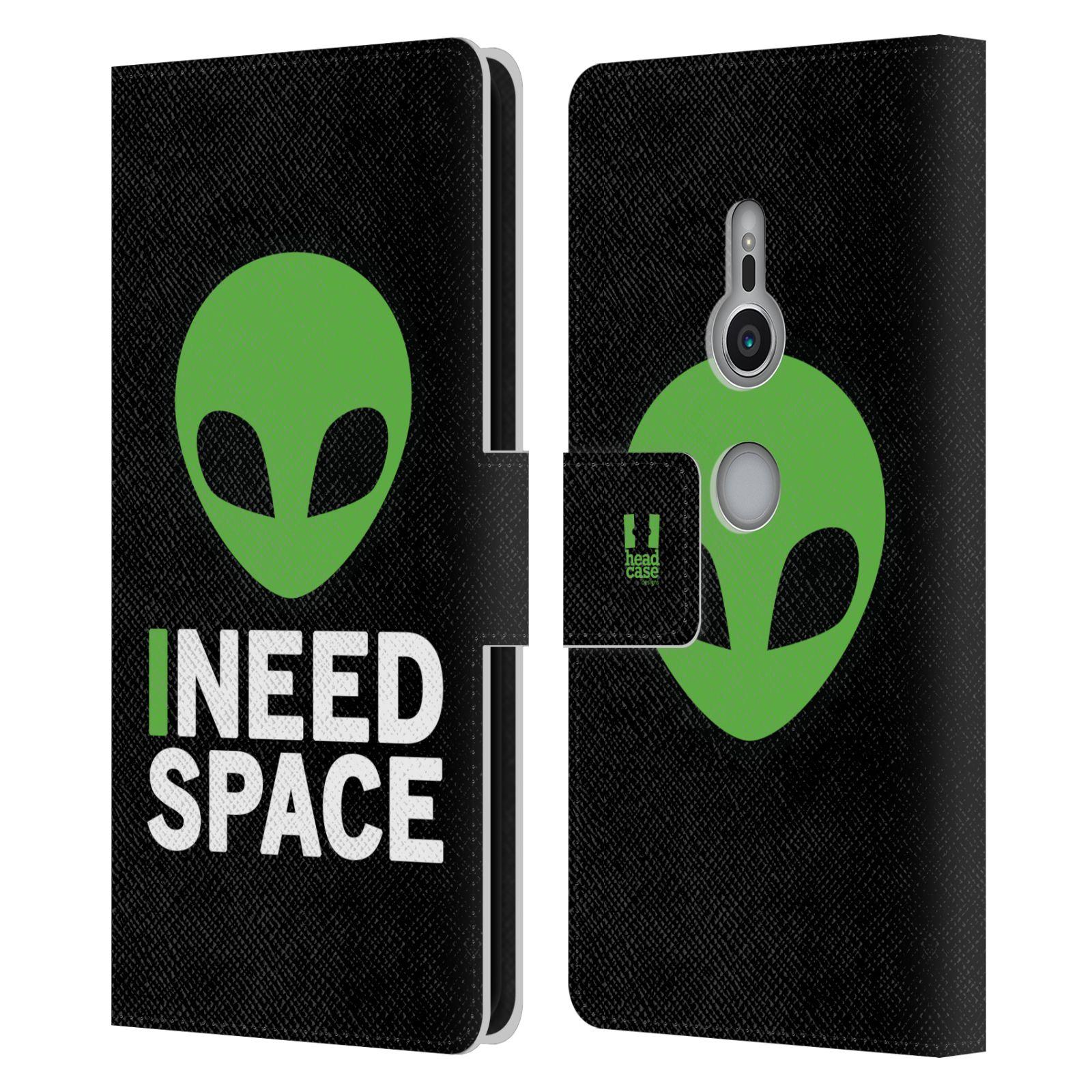 Pouzdro na mobil Sony Xperia XZ2 - Head Case - zelený mimozemšťan Ufoun
