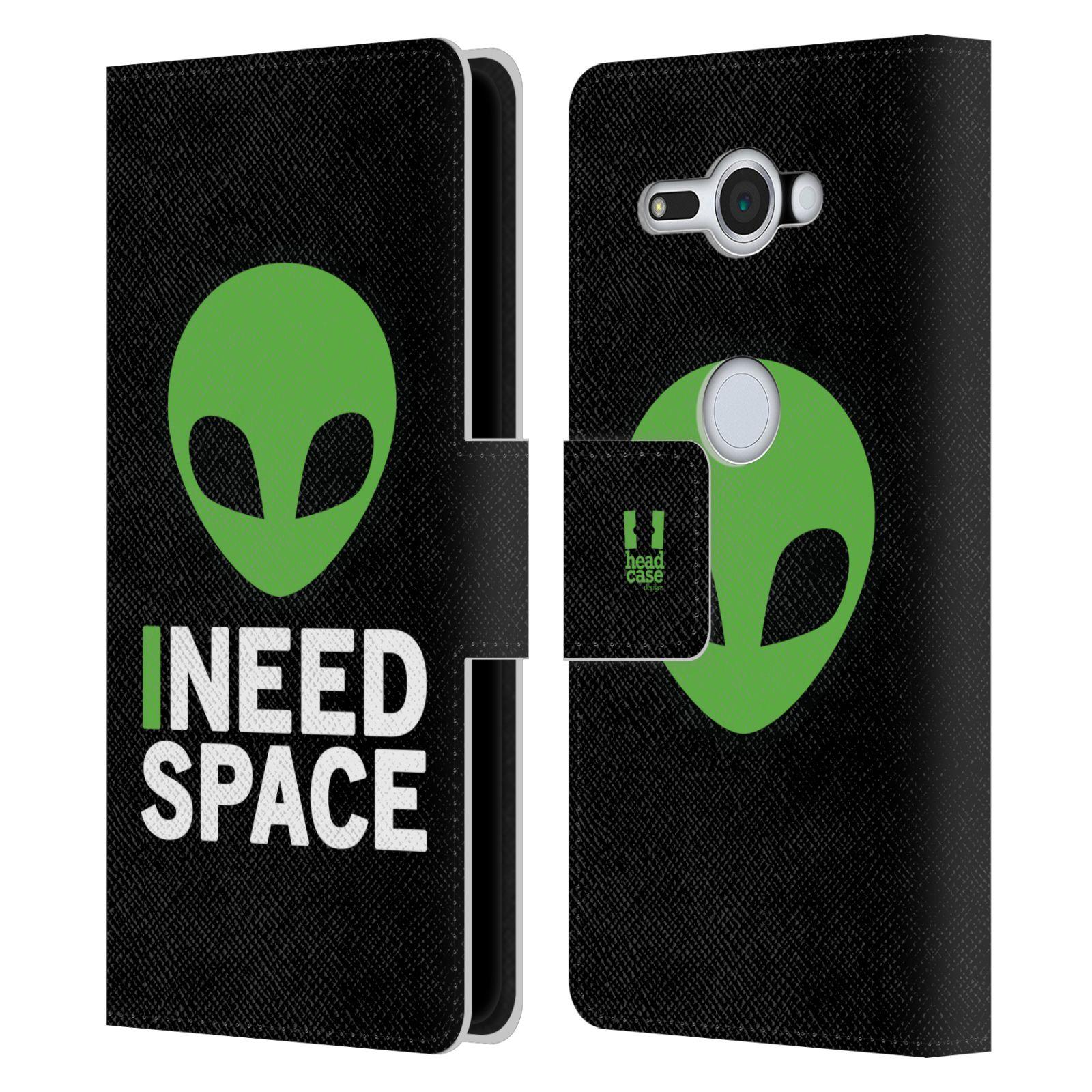 Pouzdro na mobil Sony Xperia XZ2 Compact - Head Case - zelený mimozemšťan Ufoun
