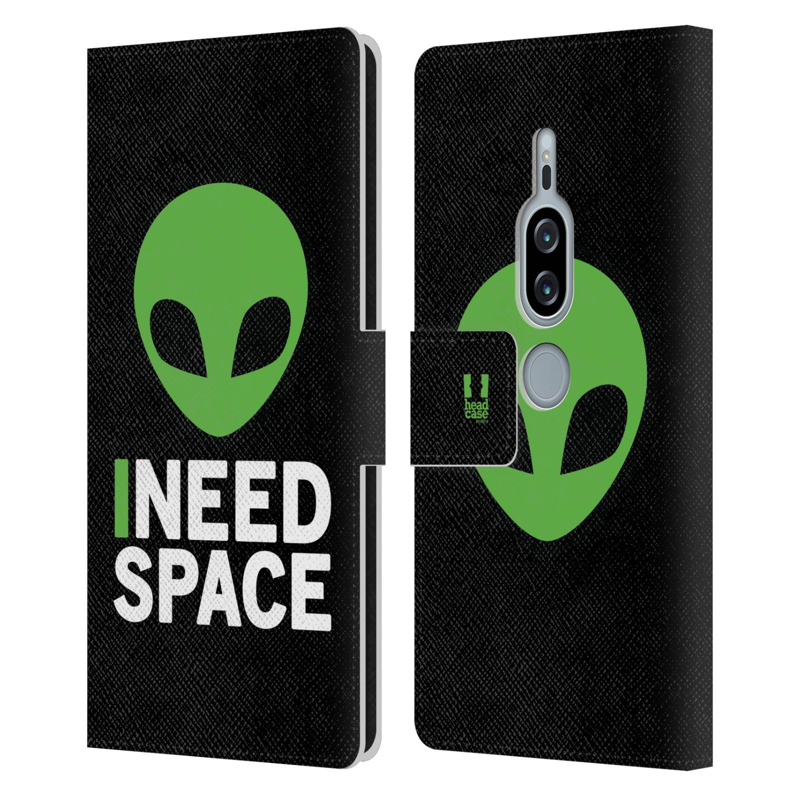 Pouzdro na mobil Sony Xperia XZ2 Premium - Head Case - zelený mimozemšťan Ufoun