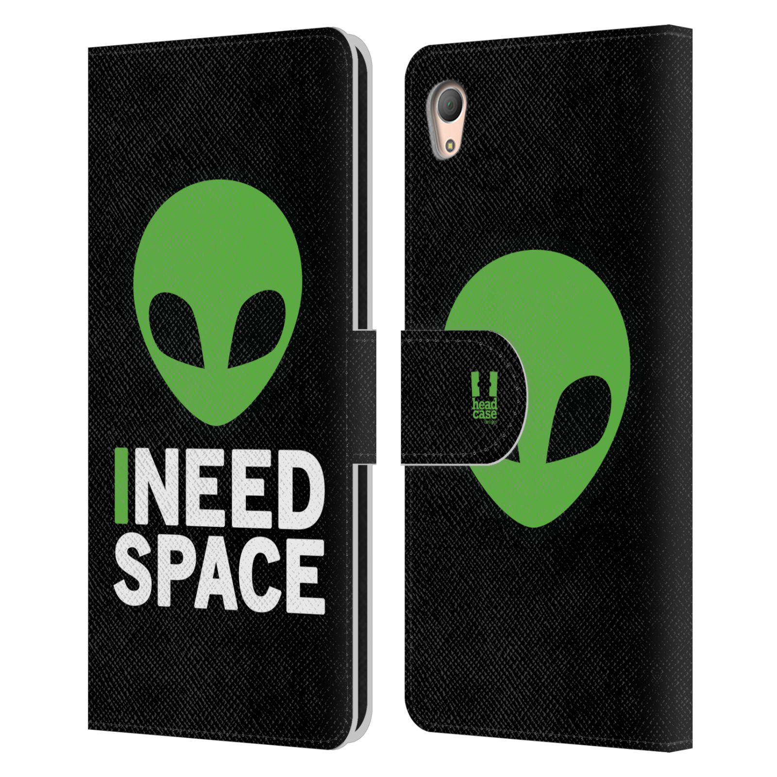 Pouzdro na mobil Sony Xperia Z3 PLUS - Head Case - zelený mimozemšťan Ufoun