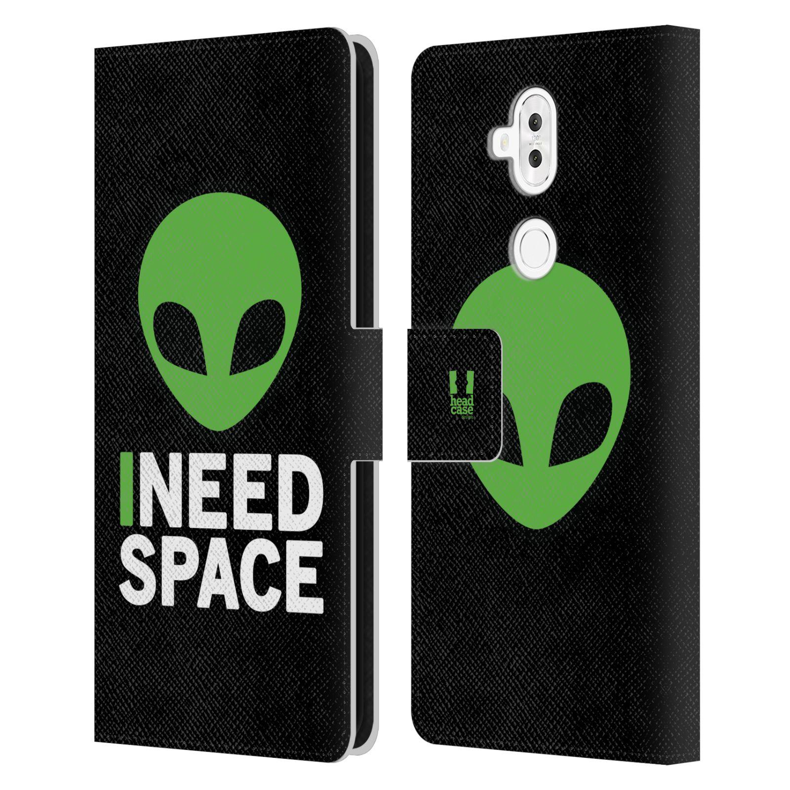 Pouzdro na mobil Asus Zenfone 5 ZC600KL - Head Case - zelený mimozemšťan Ufoun