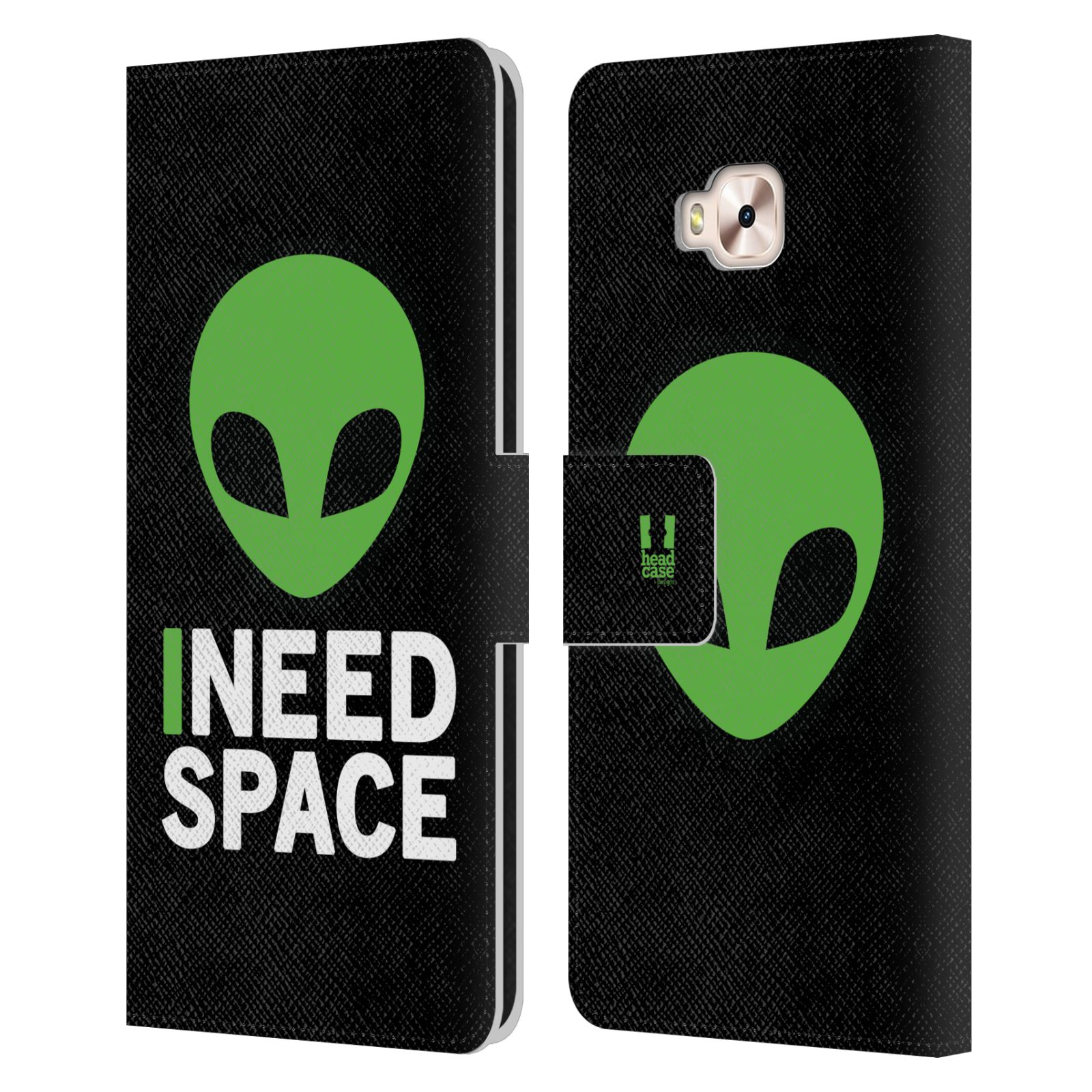 Pouzdro na mobil Asus Zenfone 4 Selfie Pro ZD552KL - Head Case - zelený mimozemšťan Ufoun