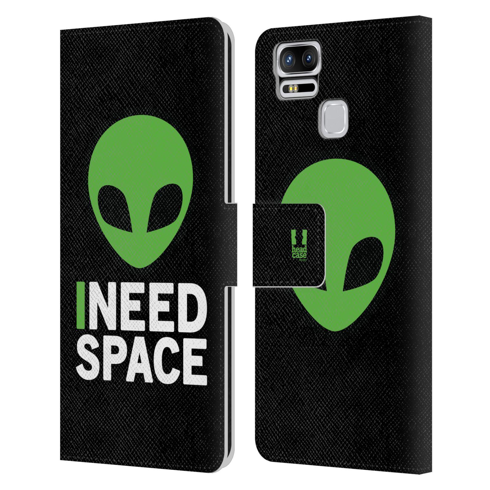 Pouzdro na mobil Asus Zenfone 3 Zoom ZE553KL - Head Case - zelený mimozemšťan Ufoun