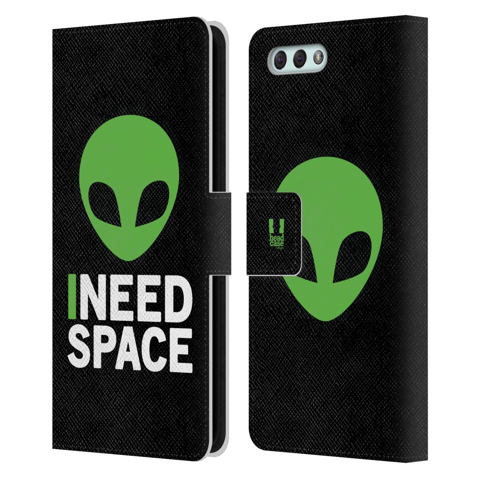 Pouzdro na mobil Asus Zenfone 4 ZE554KL - Head Case - zelený mimozemšťan Ufoun