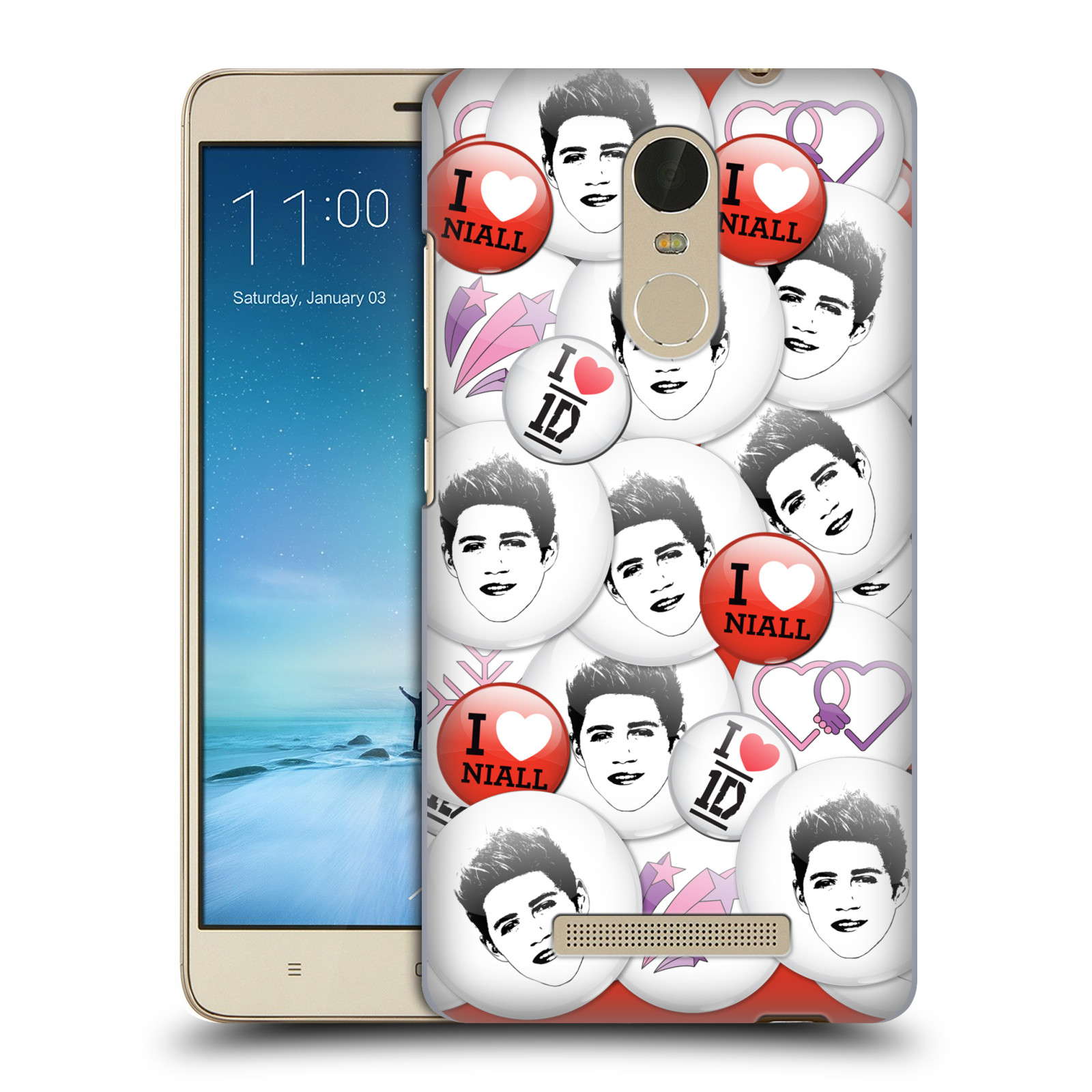 OFFICIAL-ONE-DIRECTION-1D-BUTTON-PINS-HARD-BACK-CASE-FOR-XIAOMI-PHONES