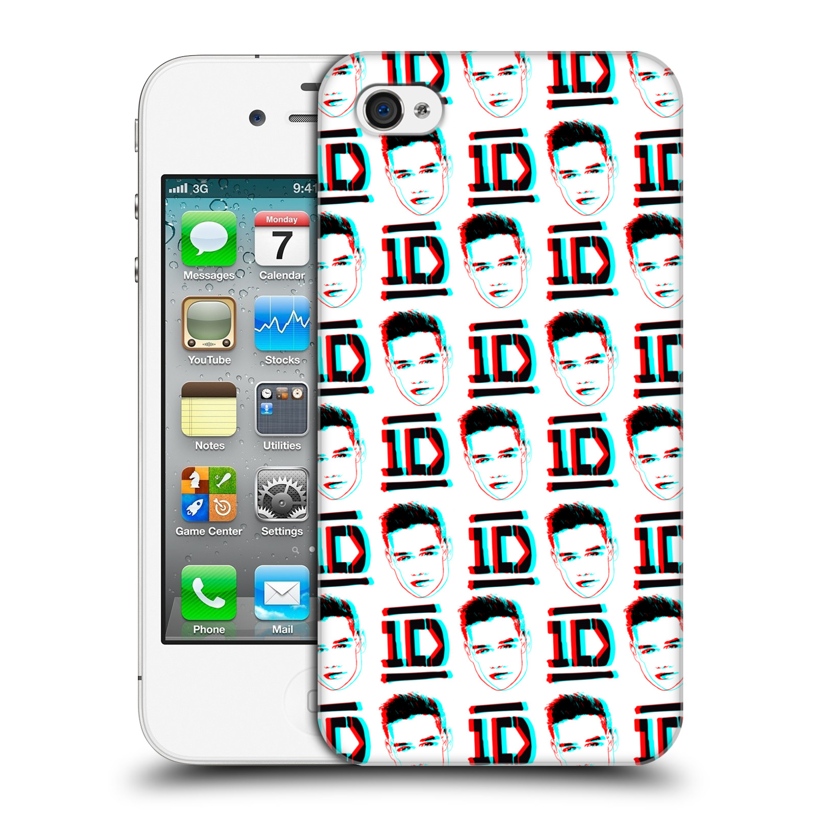 OFFICIAL-ONE-DIRECTION-DOODLE-FACE-PATTERNS-HARD-BACK-CASE-FOR-APPLE-iPHONE-4-4S