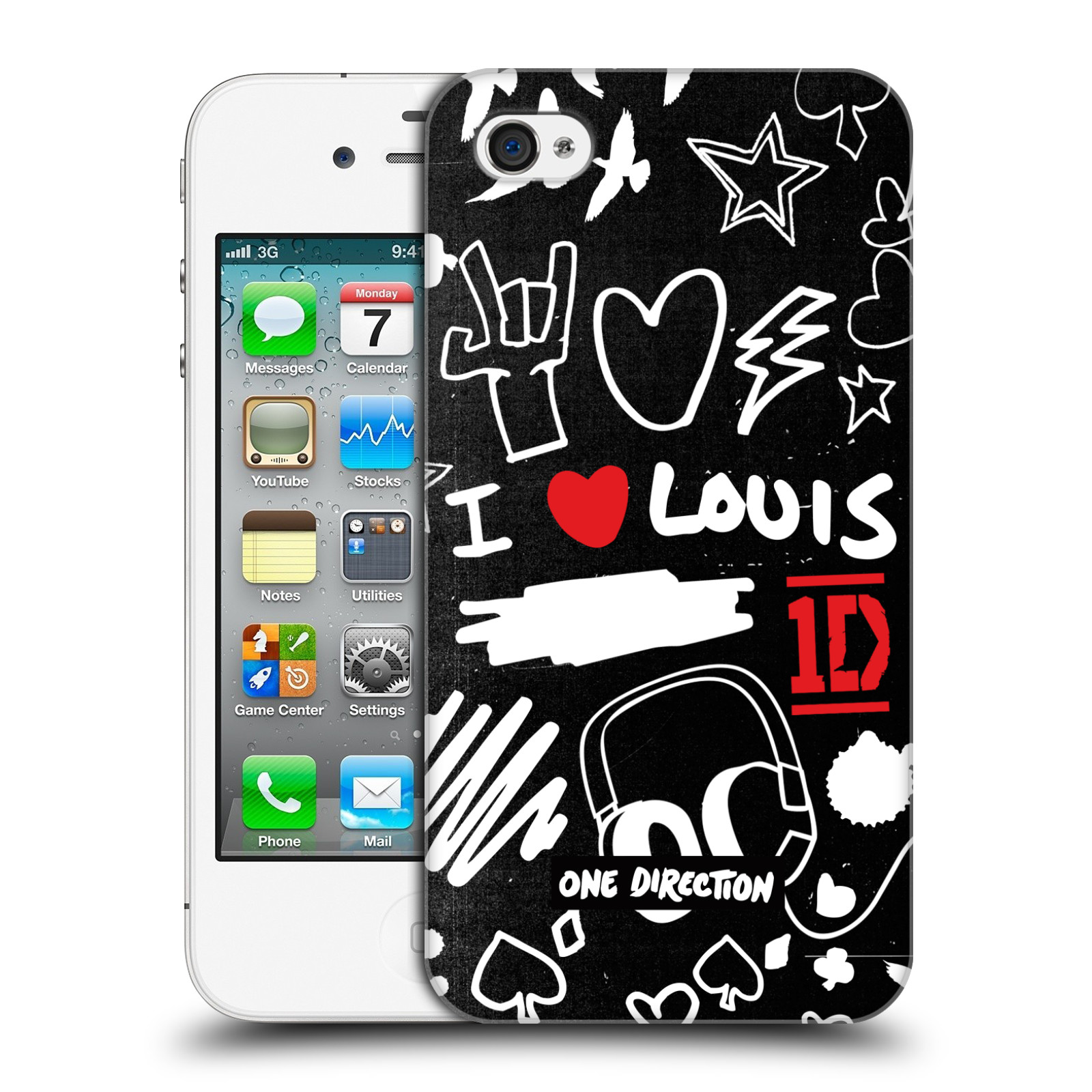 Ufficiale-One-Direction-1D-DOODLE-DESIGN-HARD-BACK-CASE-per-APPLE-IPHONE-4