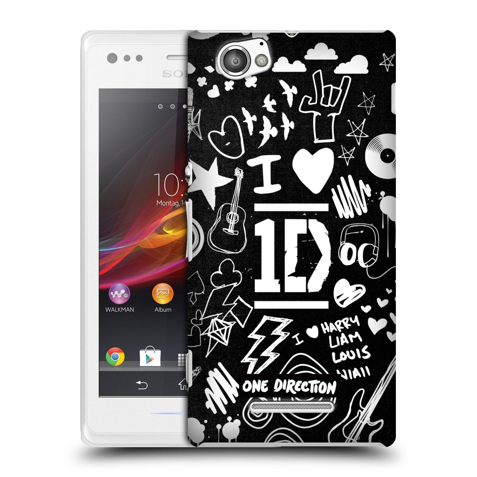 official one direction 1d doodle design hard back case for