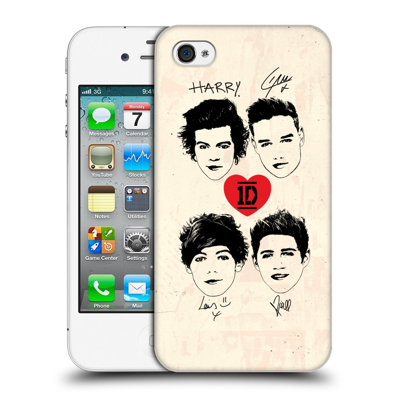 Ufficiale-One-Direction-1D-DOODLE-GUAM-HARD-BACK-CASE-per-APPLE-IPHONE-4S
