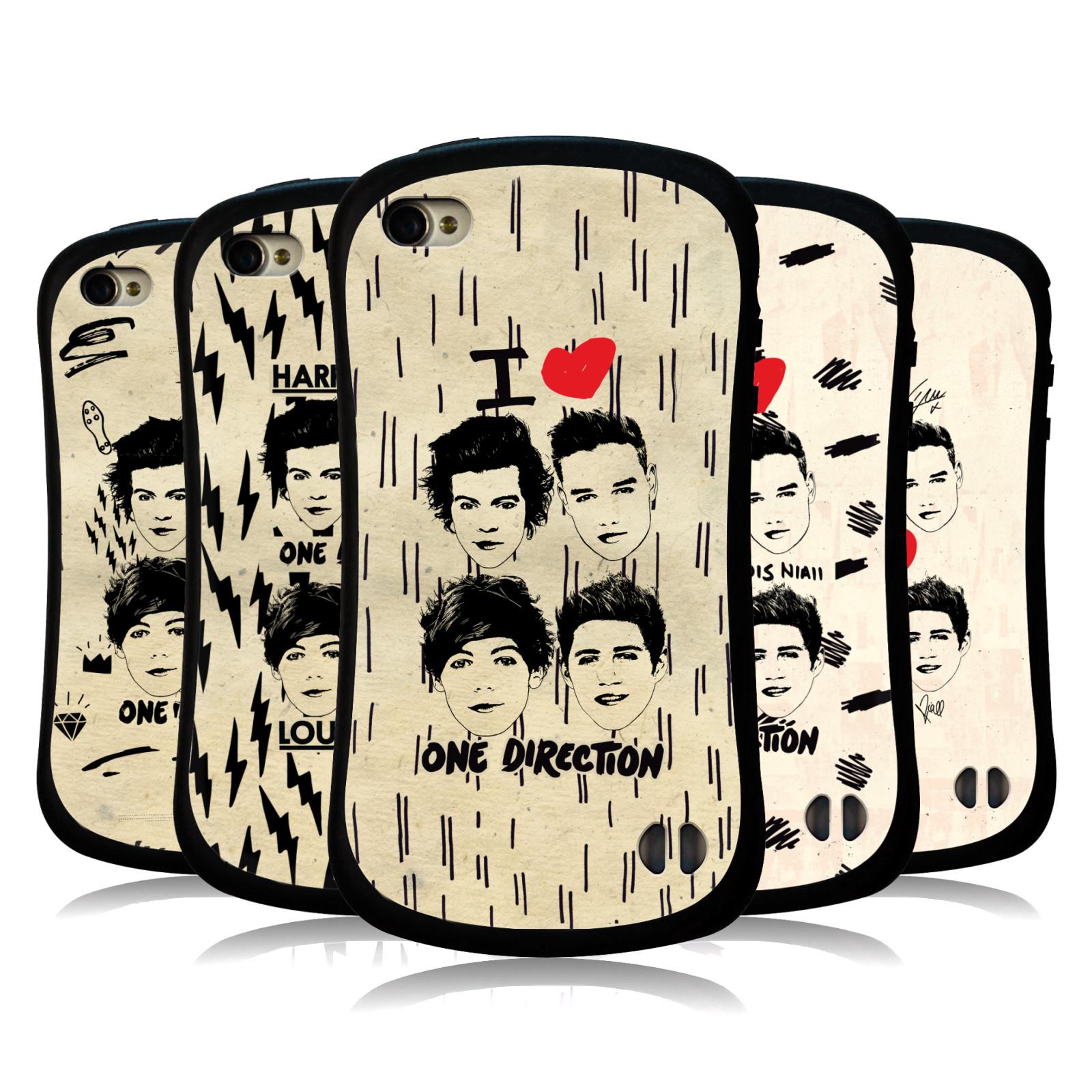Ufficiale-One-Direction-1D-DOODLE-GUAM-Hybrid-caso-per-Apple-iPhone-4S