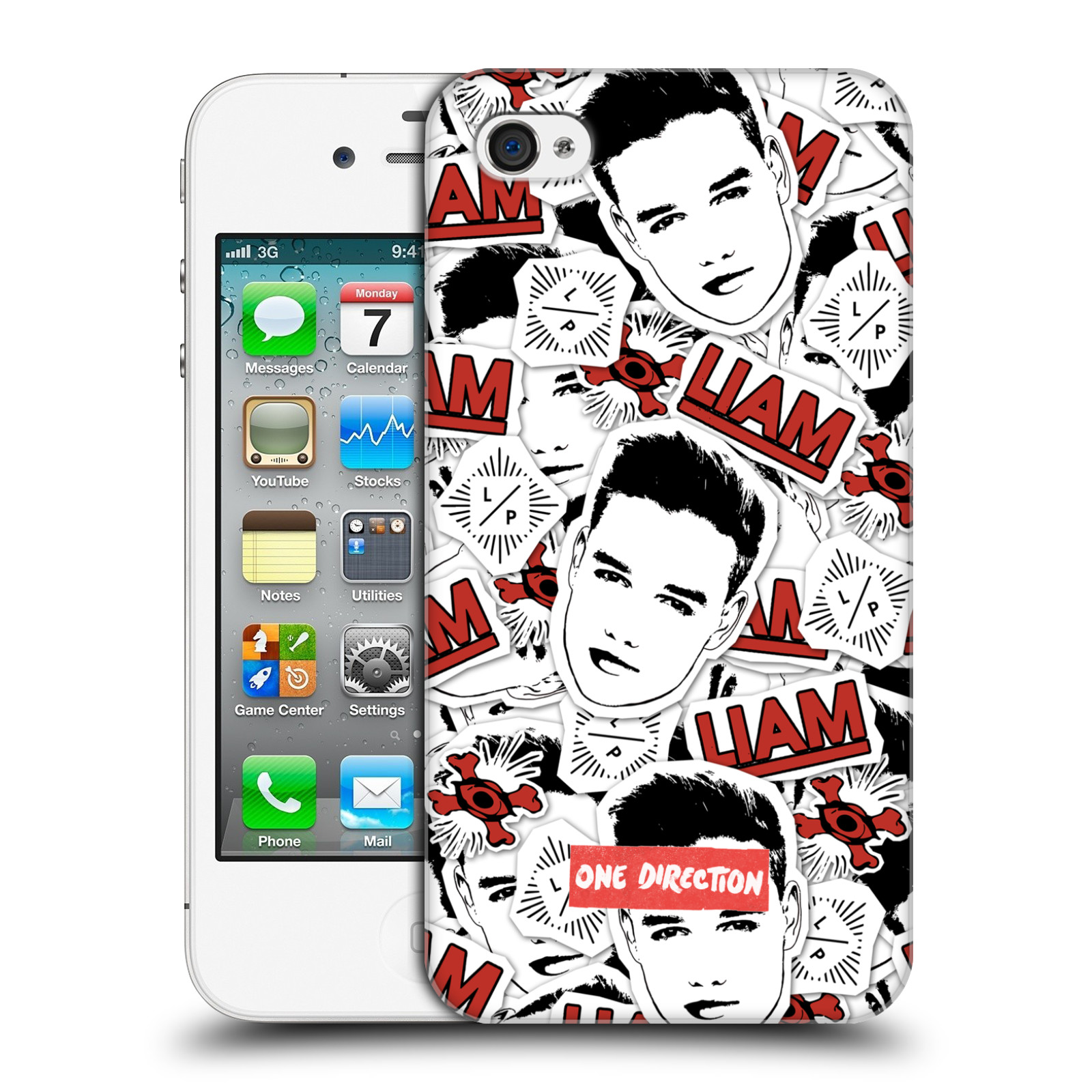 Ufficiale-One-Direction-1D-faccia-PATTERNS-HARD-BACK-CASE-per-APPLE-IPHONE-4S