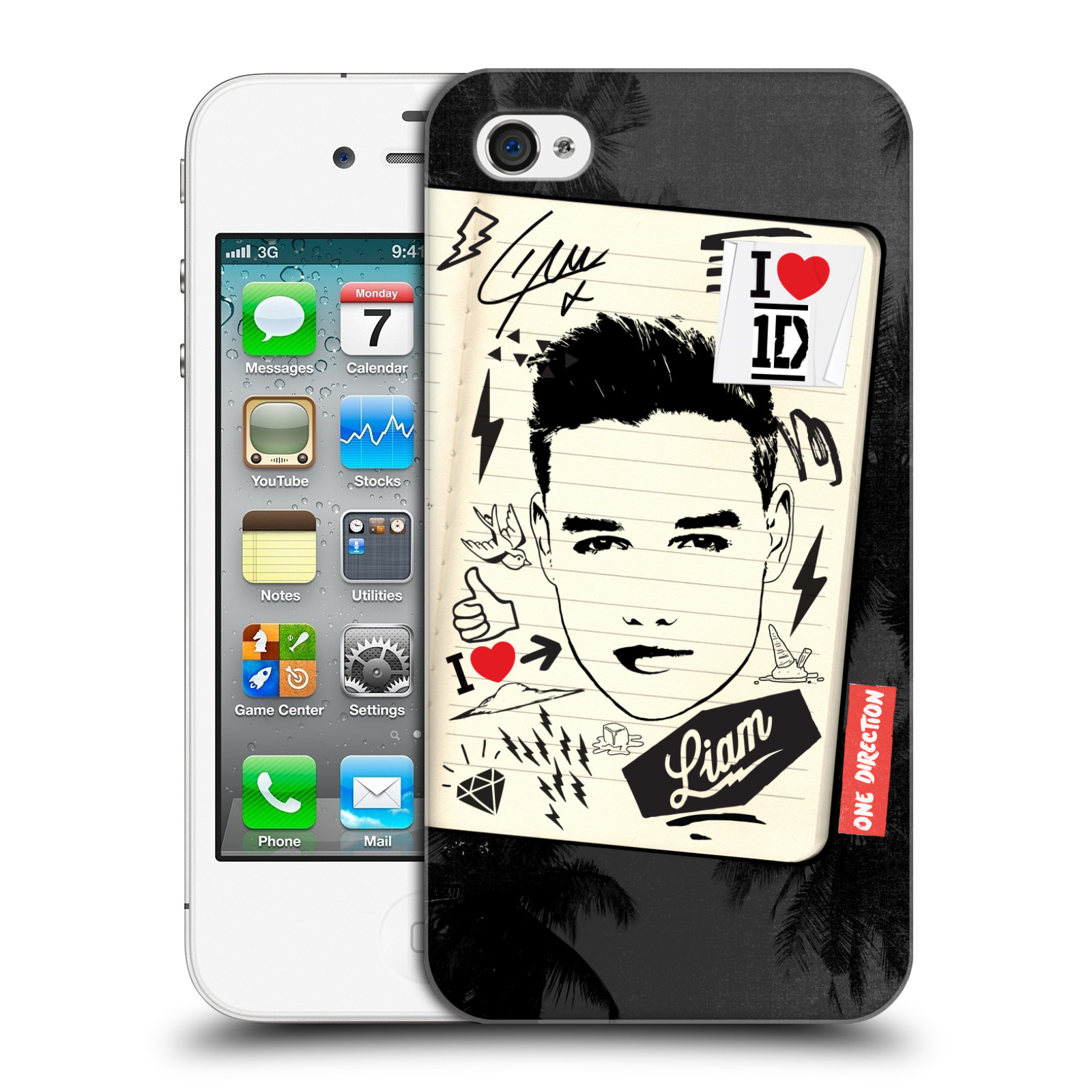 OFFICIAL-ONE-DIRECTION-1D-FANPHERNALIA-HARD-BACK-CASE-FOR-APPLE-iPHONE-4