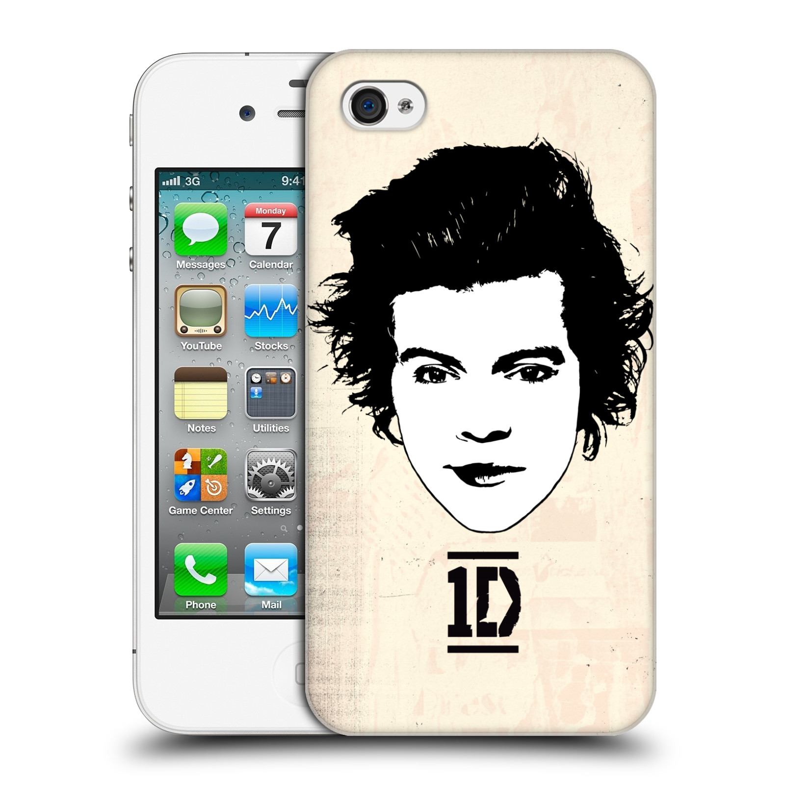 Ufficiale-One-Direction-1D-GRAPHIC-facce-HARRY-HARD-BACK-CASE-per-APPLE-IPHONE-4S