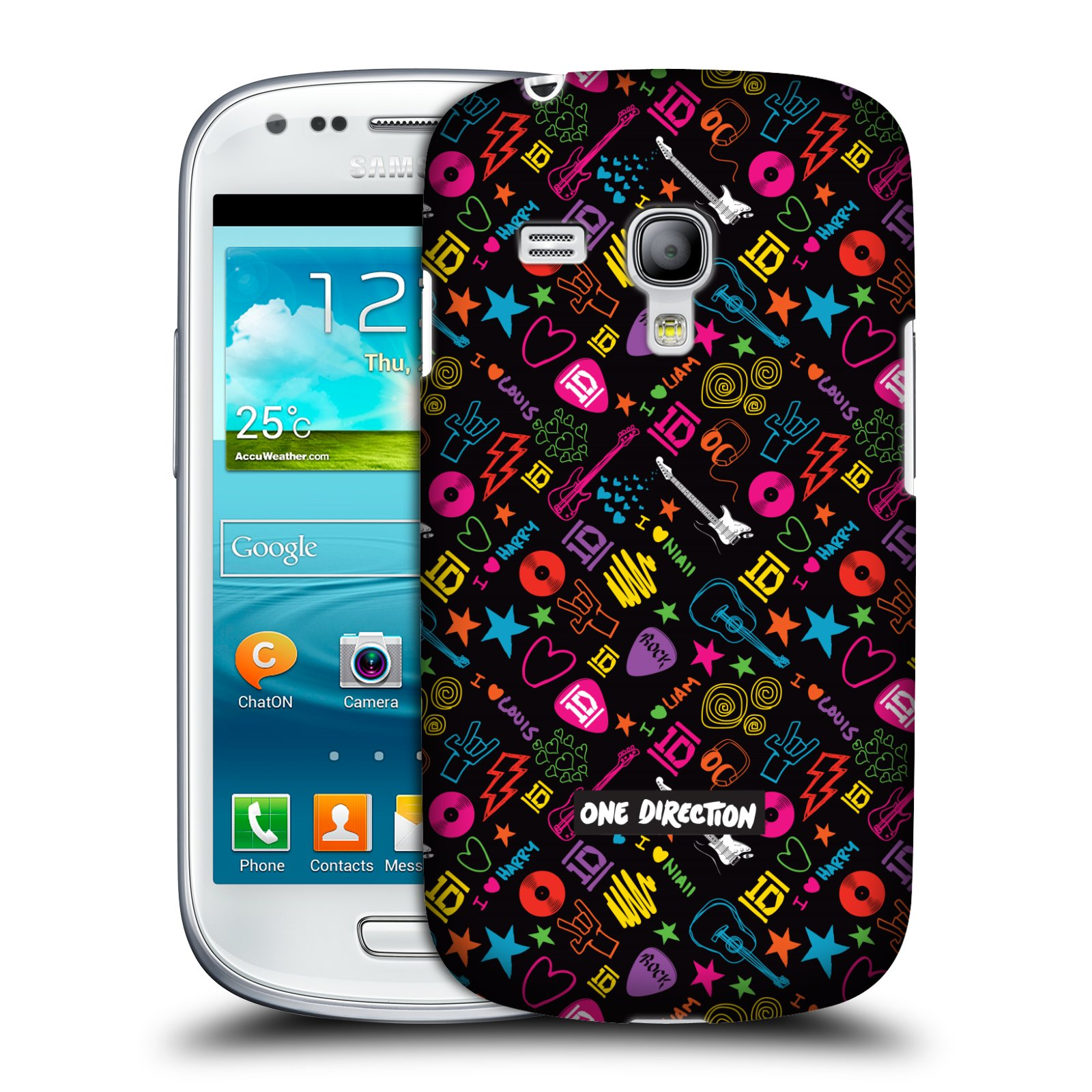 Official one direction icon patterns case for samsung galaxy s3 iii mini i8190 ebay - Fundas para samsung mini s3 ...