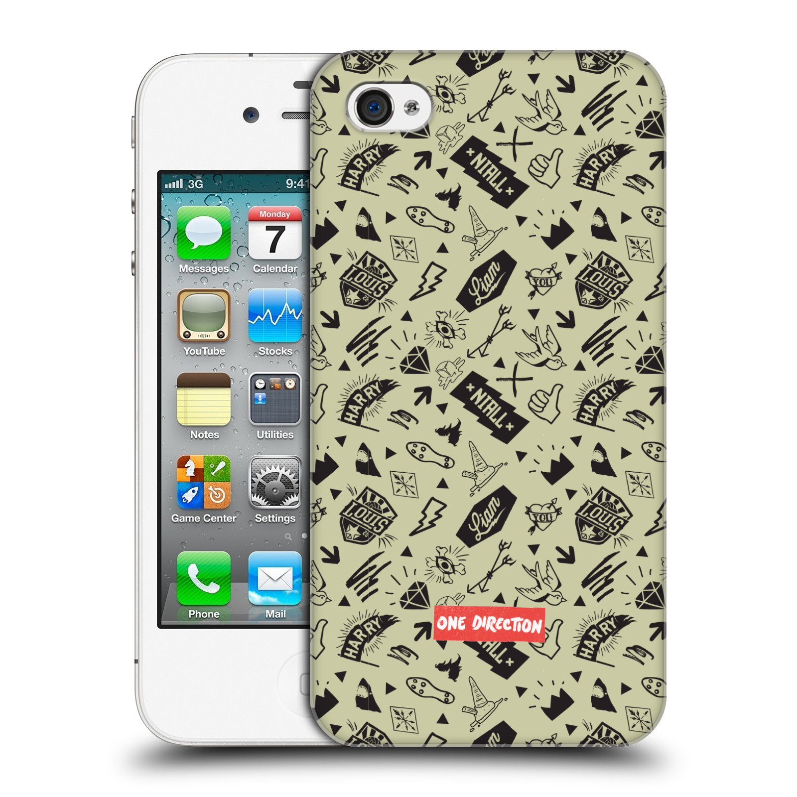 Ufficiale-One-Direction-1D-icona-PATTERNS-HARD-BACK-CASE-per-APPLE-IPHONE-4S