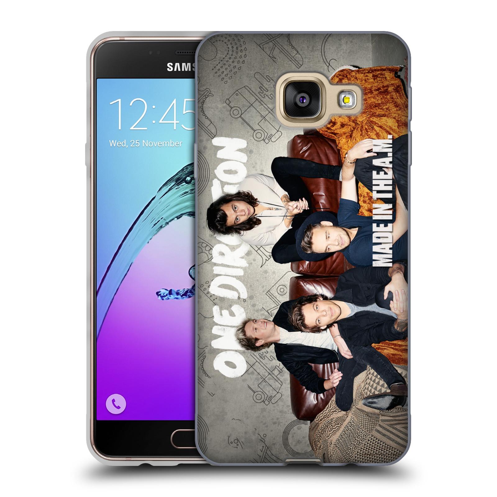 HEAD CASE silikonový obal na mobil Samsung Galaxy A3 2016 (A310) chlapecká skupina One Direction gauč