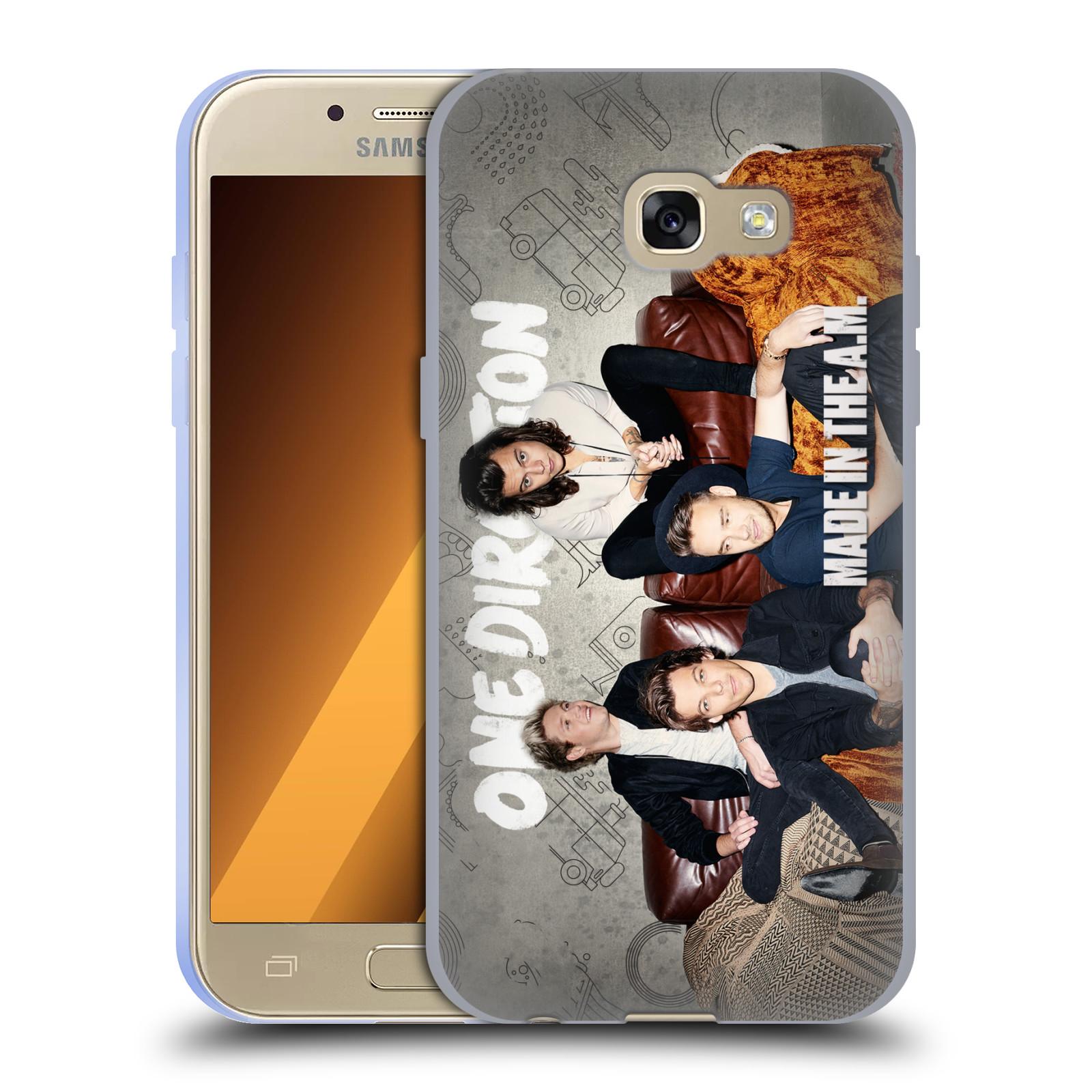 HEAD CASE silikonový obal na mobil Samsung Galaxy A3 2017 (A320) chlapecká skupina One Direction gauč
