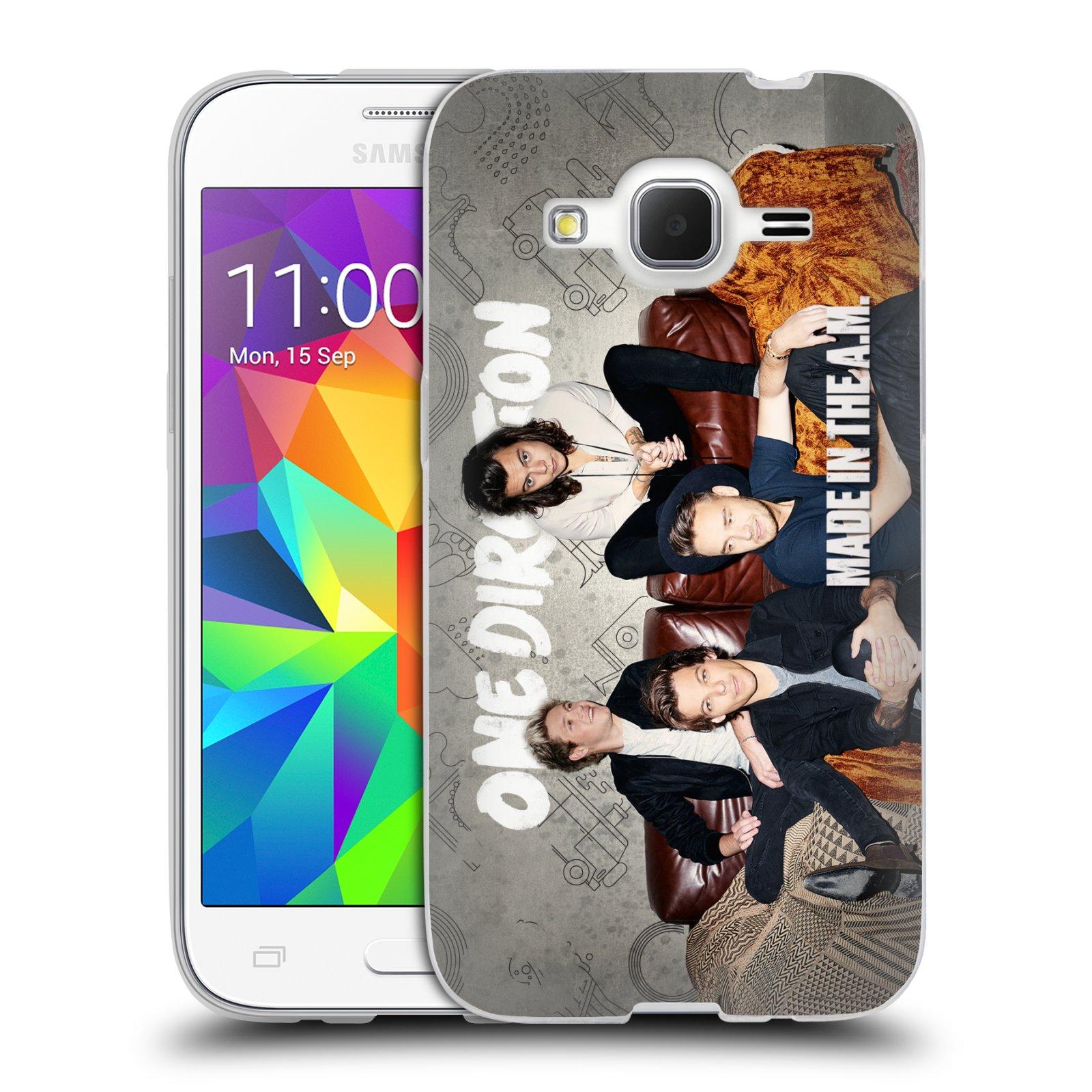 HEAD CASE silikonový obal na mobil Samsung Galaxy Core Prime (G360) chlapecká skupina One Direction gauč