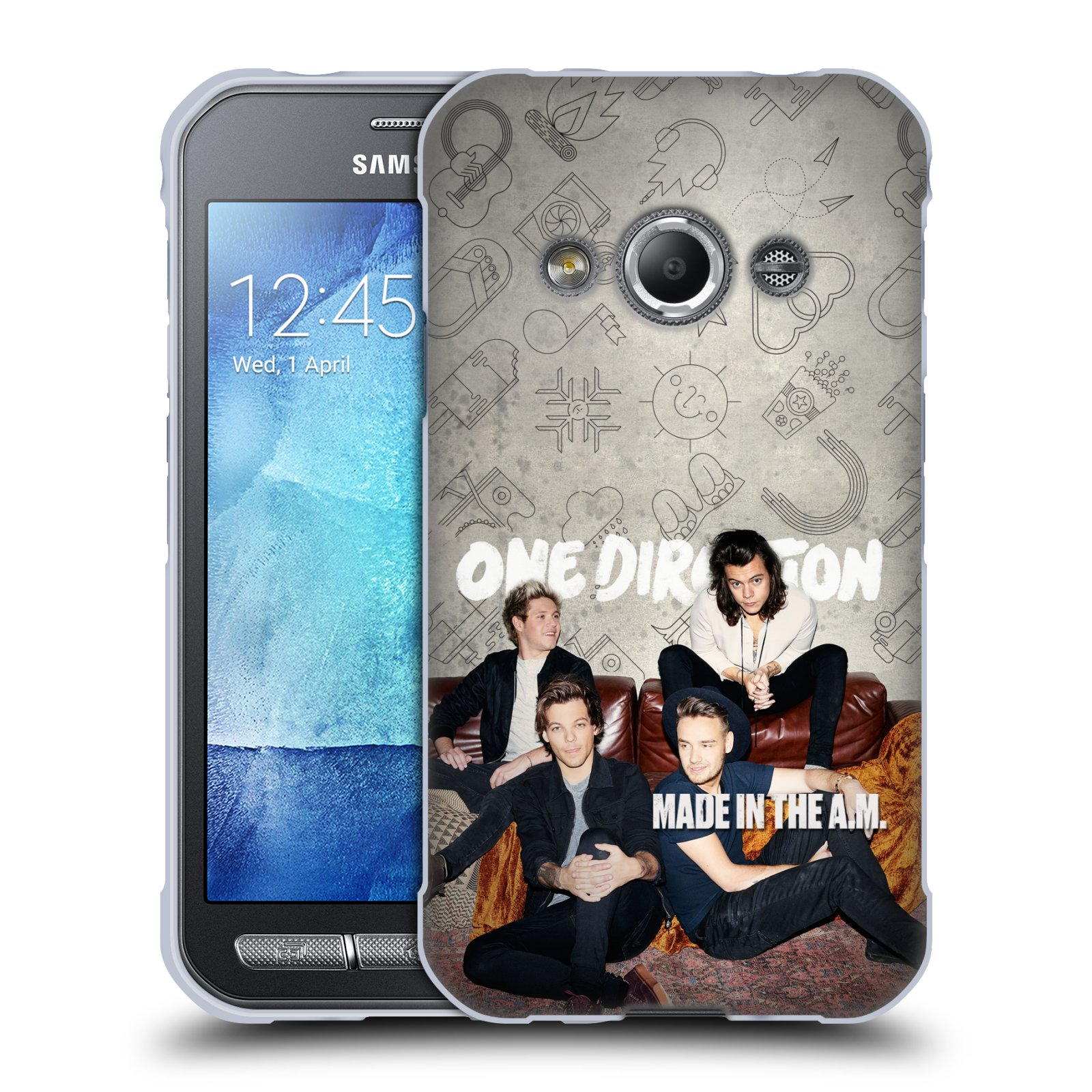 HEAD CASE silikonový obal na mobil Samsung Galaxy Xcover 3 chlapecká skupina One Direction gauč