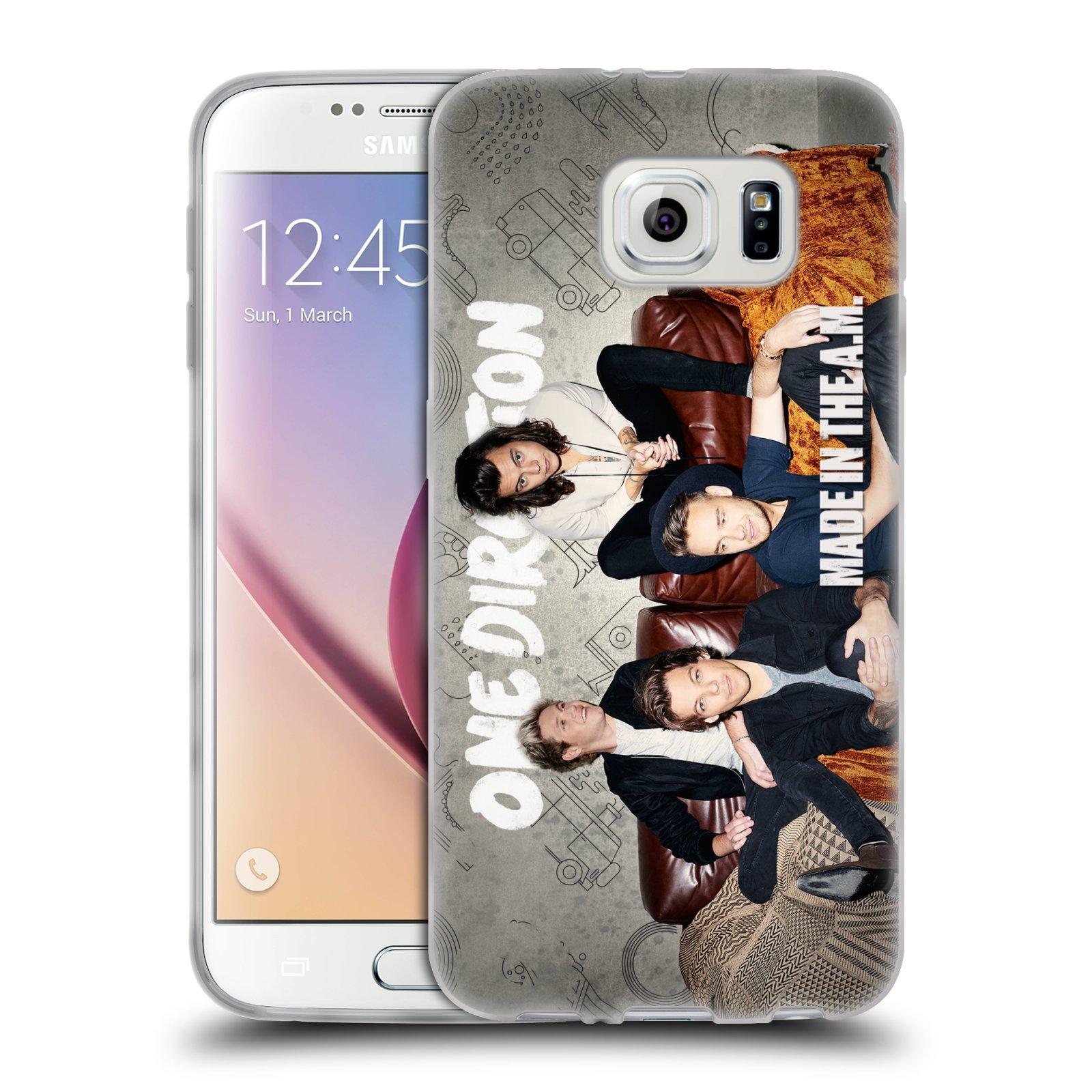 HEAD CASE silikonový obal na mobil Samsung Galaxy S6 chlapecká skupina One Direction gauč