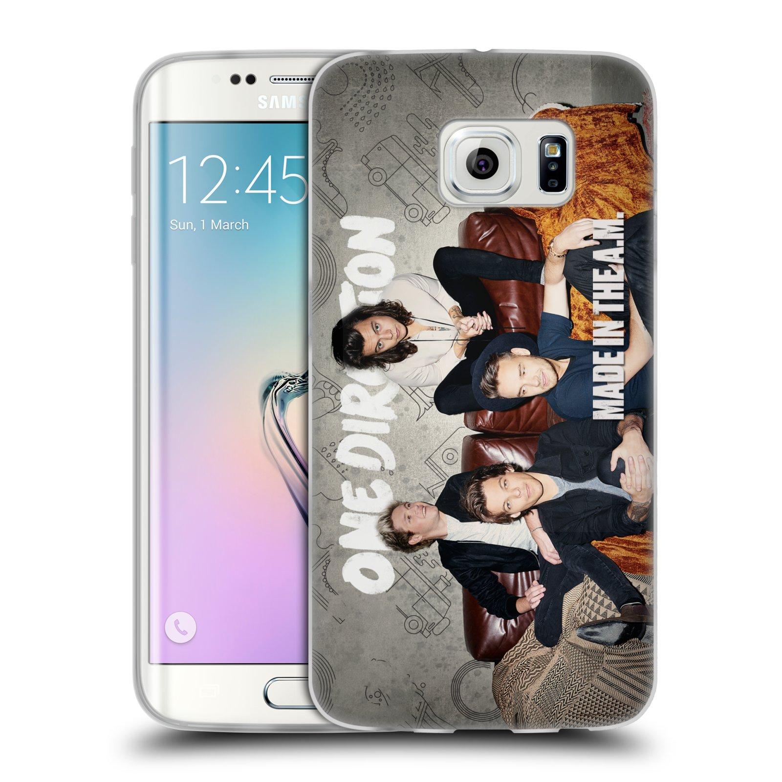 HEAD CASE silikonový obal na mobil Samsung Galaxy S6 EDGE chlapecká skupina One Direction gauč