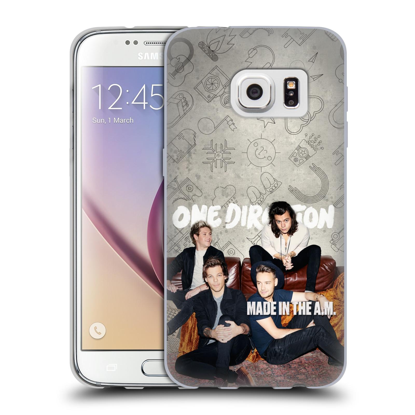HEAD CASE silikonový obal na mobil Samsung Galaxy S7 chlapecká skupina One Direction gauč