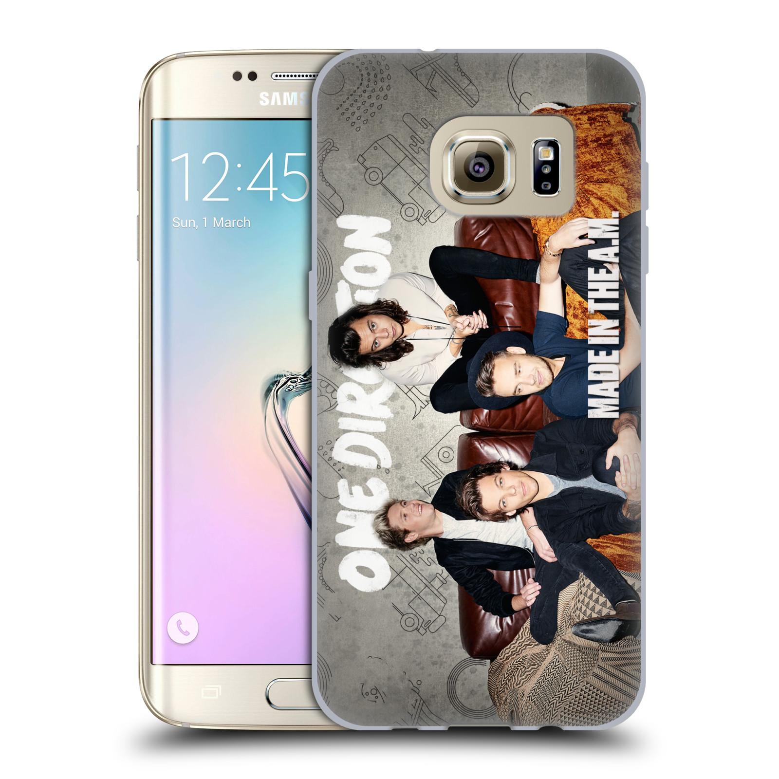 HEAD CASE silikonový obal na mobil Samsung Galaxy S7 EDGE chlapecká skupina One Direction gauč