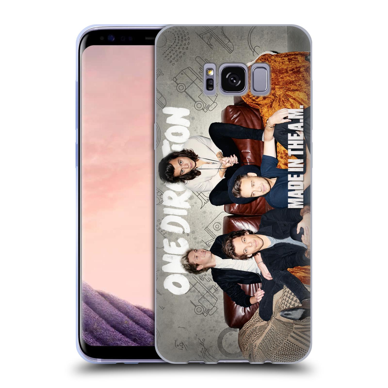 HEAD CASE silikonový obal na mobil Samsung Galaxy S8 chlapecká skupina One Direction gauč