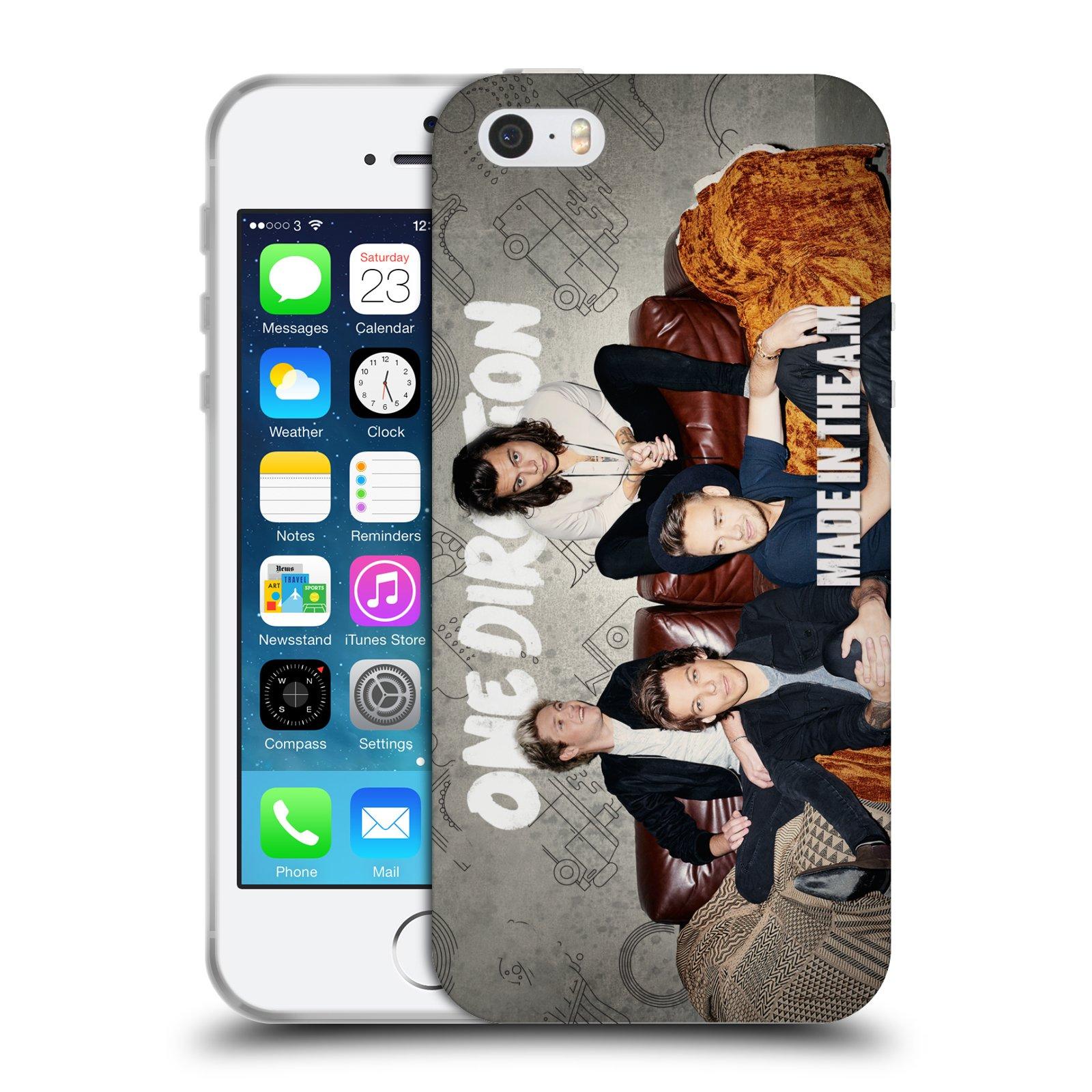 HEAD CASE silikonový obal na mobil Apple Iphone 5/5S chlapecká skupina One Direction gauč