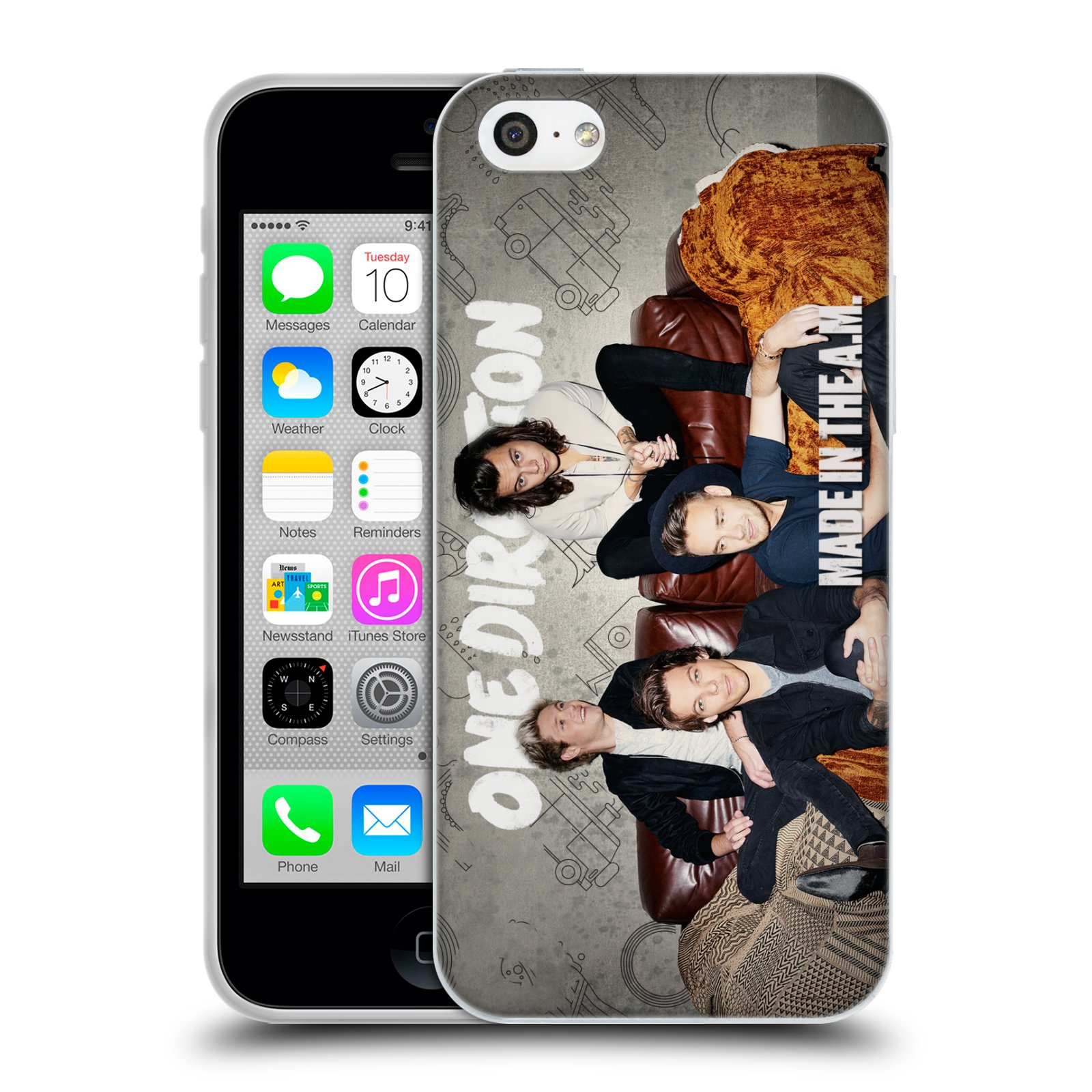 HEAD CASE silikonový obal na mobil Apple Iphone 5C chlapecká skupina One Direction gauč