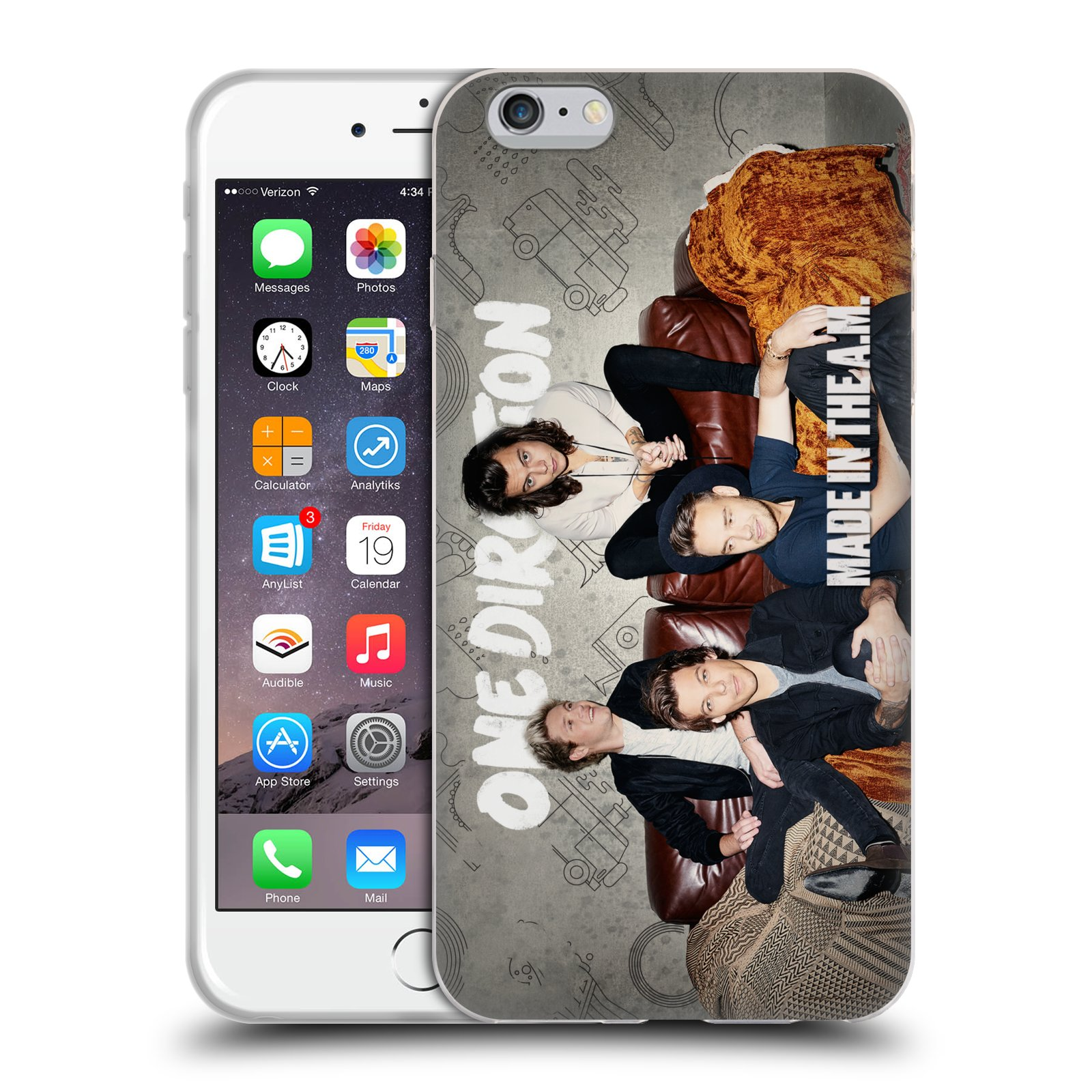 HEAD CASE silikonový obal na mobil Apple Iphone 6/6S PLUS chlapecká skupina One Direction gauč