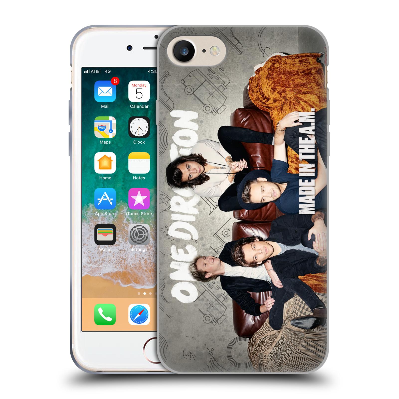 HEAD CASE silikonový obal na mobil Apple Iphone 7 chlapecká skupina One Direction gauč