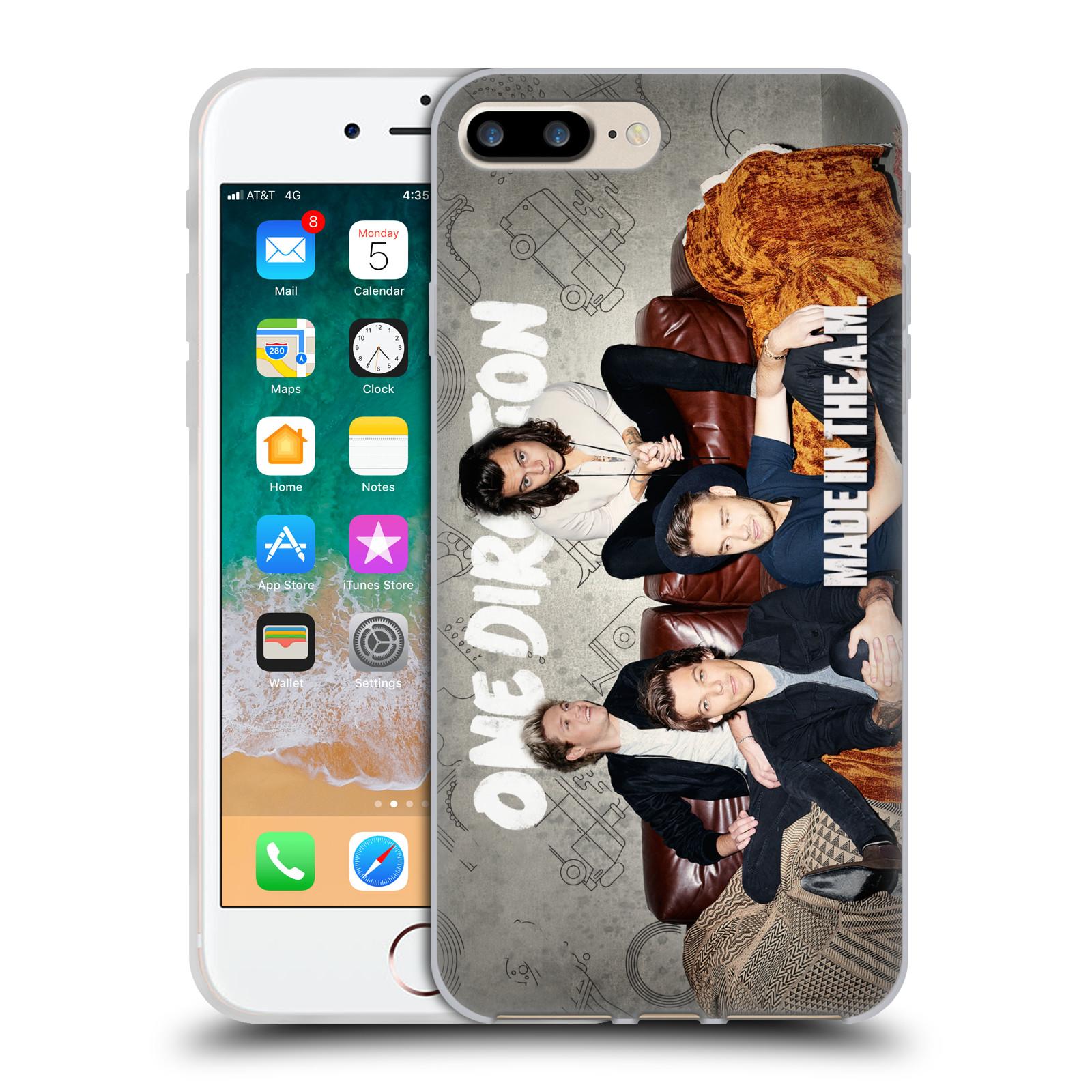 HEAD CASE silikonový obal na mobil Apple Iphone 7 PLUS chlapecká skupina One Direction gauč