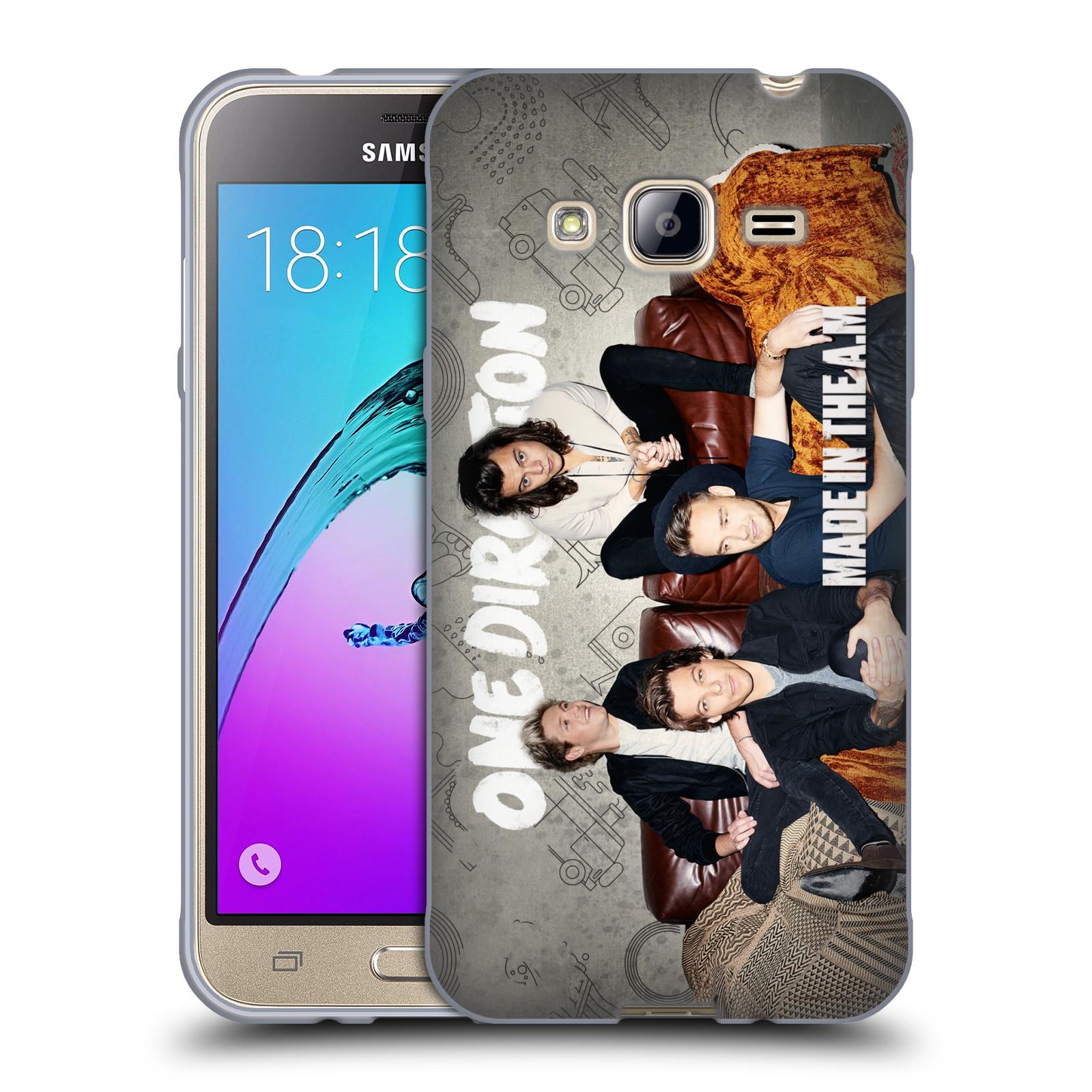 HEAD CASE silikonový obal na mobil Samsung Galaxy J3, J3 2016 chlapecká skupina One Direction gauč