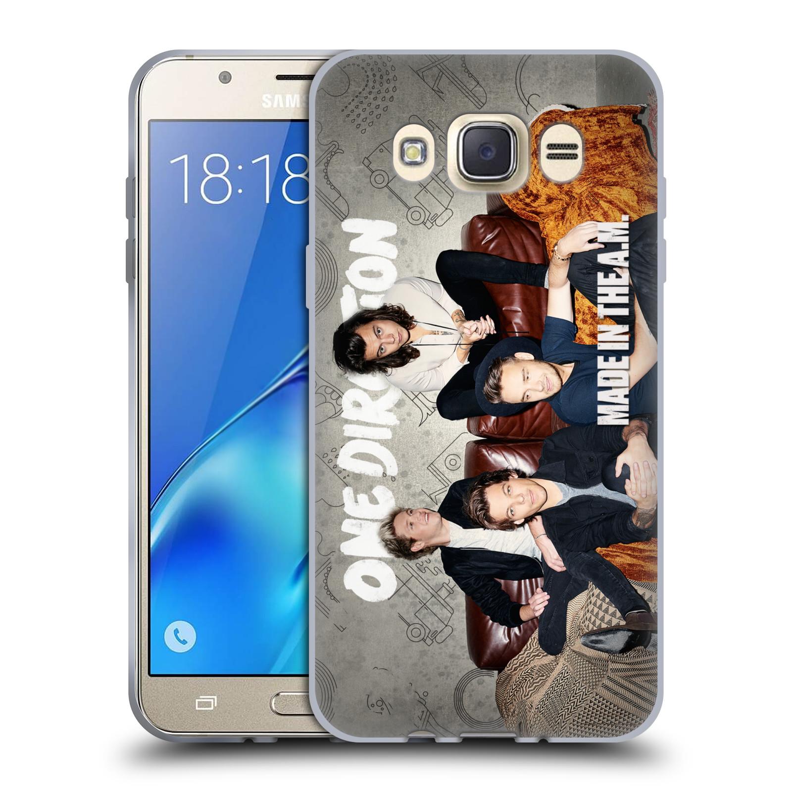 HEAD CASE silikonový obal na mobil Samsung Galaxy J7 2016 chlapecká skupina One Direction gauč