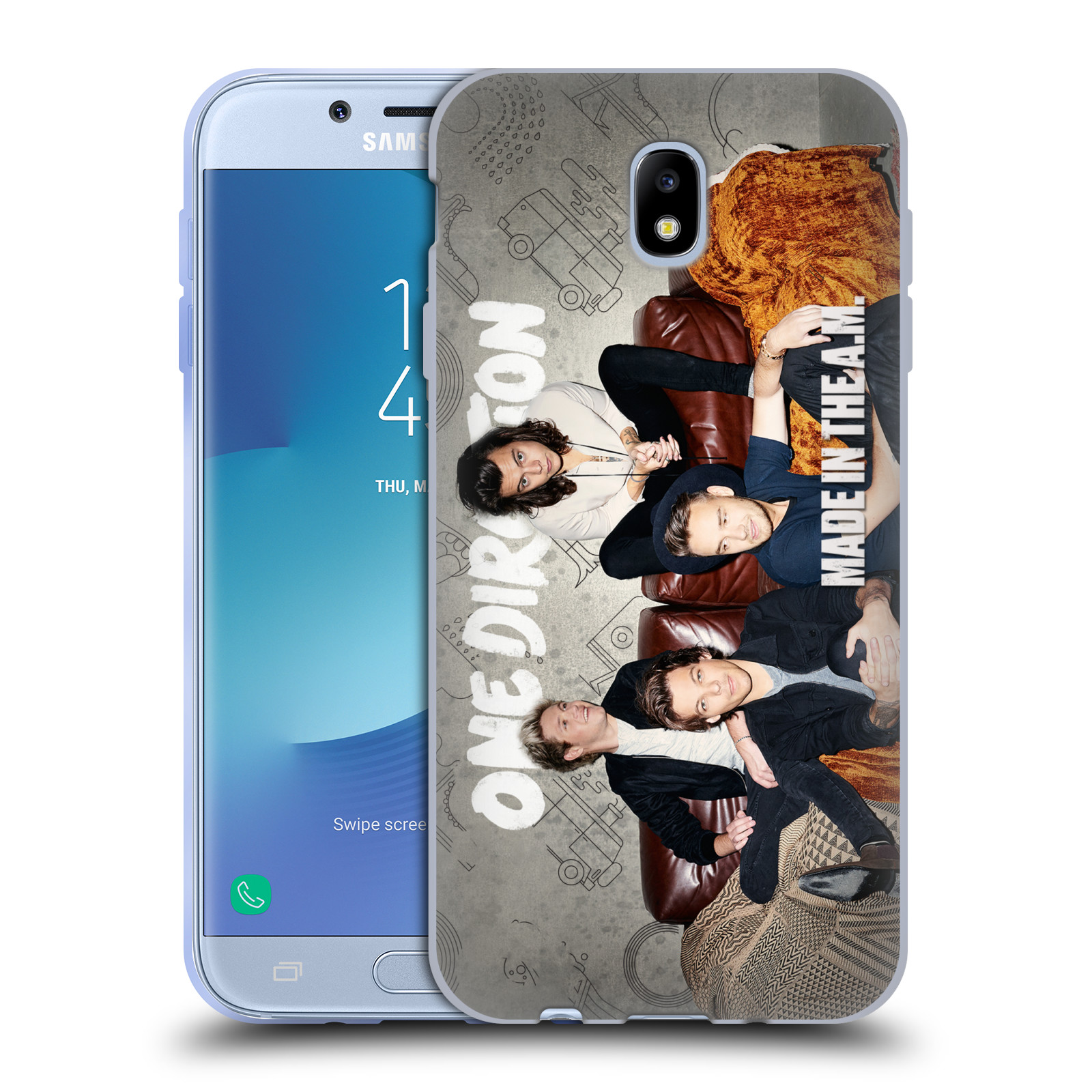 HEAD CASE silikonový obal na mobil Samsung Galaxy J7 2017 chlapecká skupina One Direction gauč