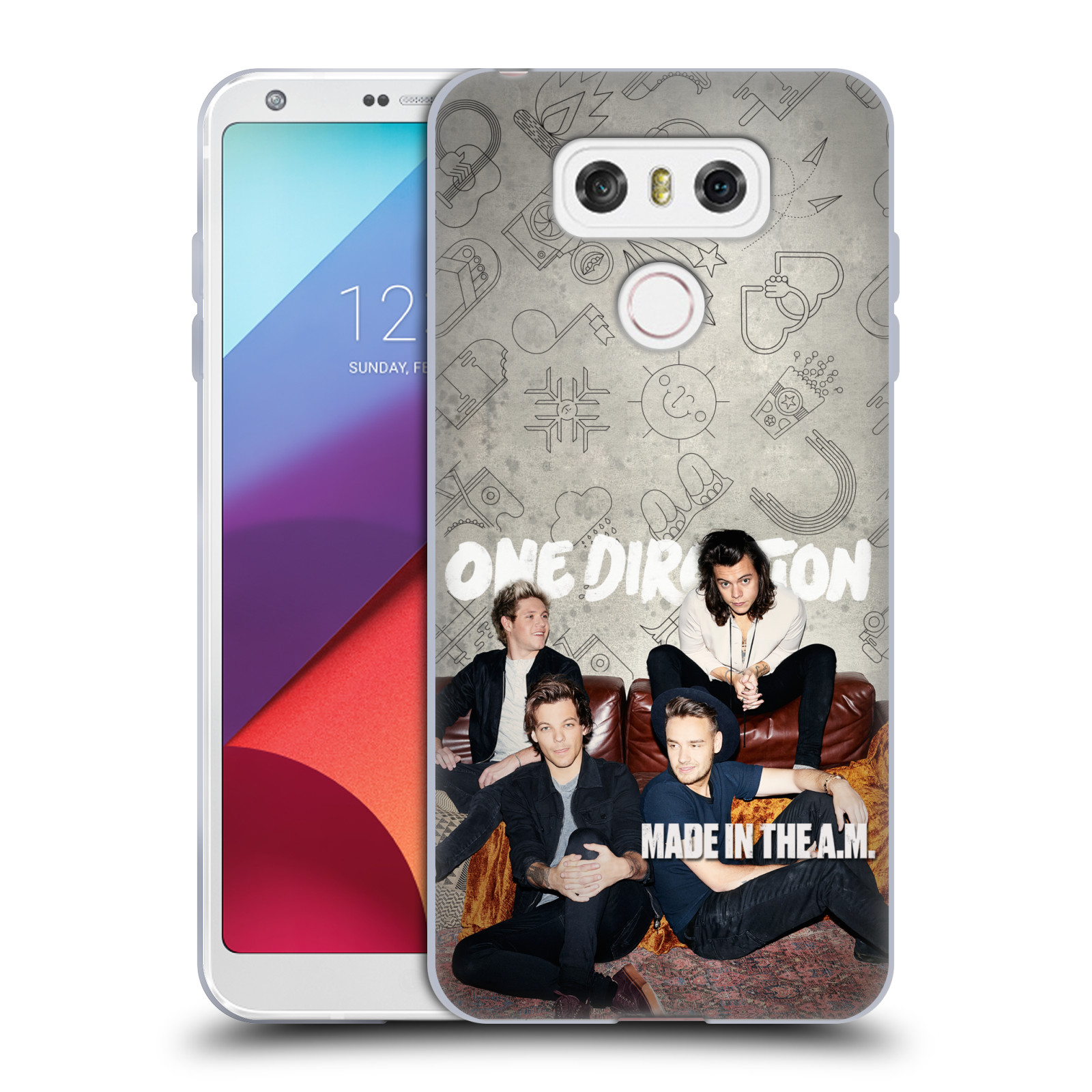HEAD CASE silikonový obal na mobil LG G6 / G6 DUAL chlapecká skupina One Direction gauč