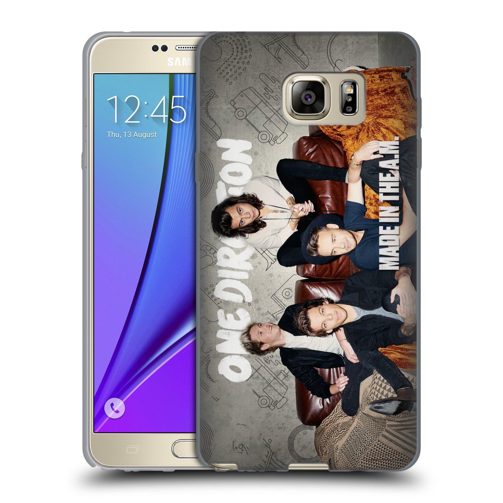 HEAD CASE silikonový obal na mobil Samsung Galaxy Note 5 chlapecká skupina One Direction gauč