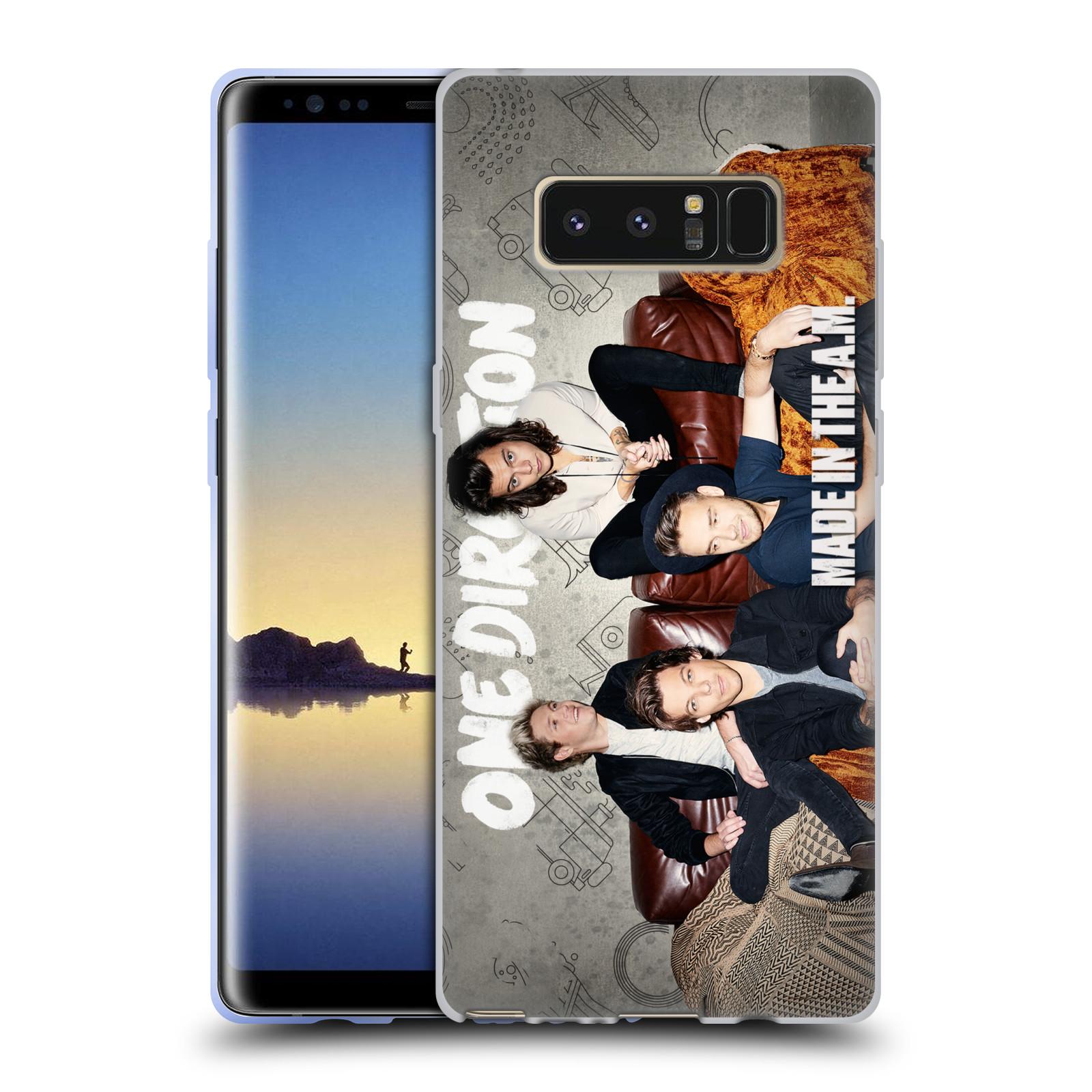 HEAD CASE silikonový obal na mobil Samsung Galaxy Note 8 chlapecká skupina One Direction gauč